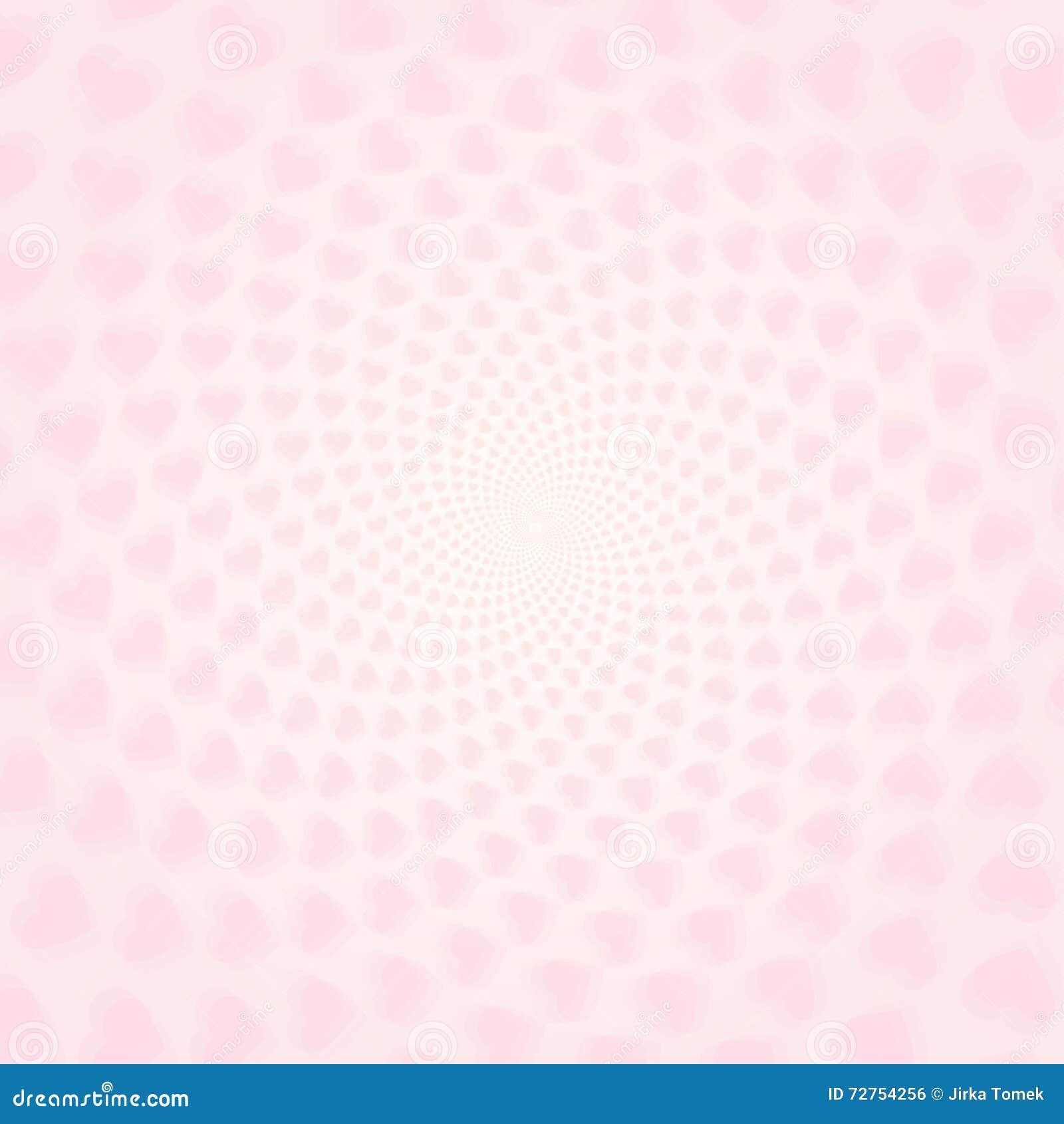 Corazones torcidos con efecto de t nel papel pintado rosa claro de los corazones del vector - Papel pintado rosa ...