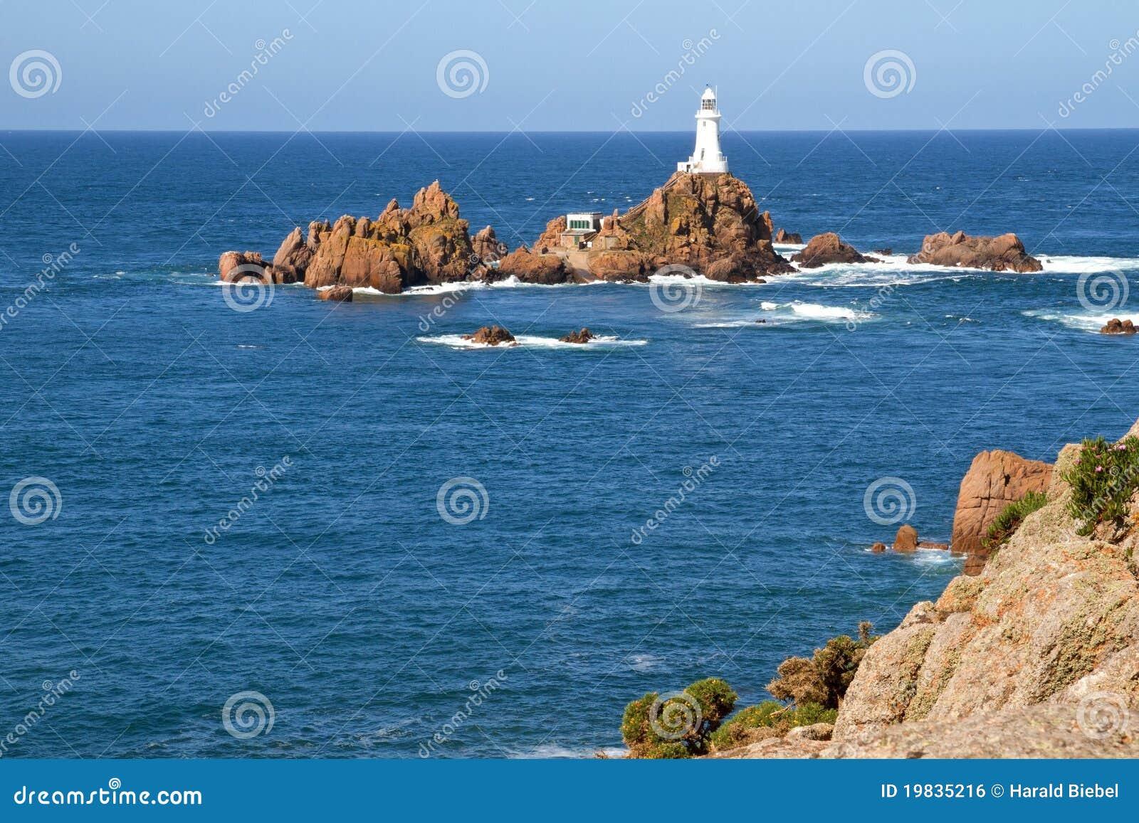 Corbiere泽西le lighthouse英国