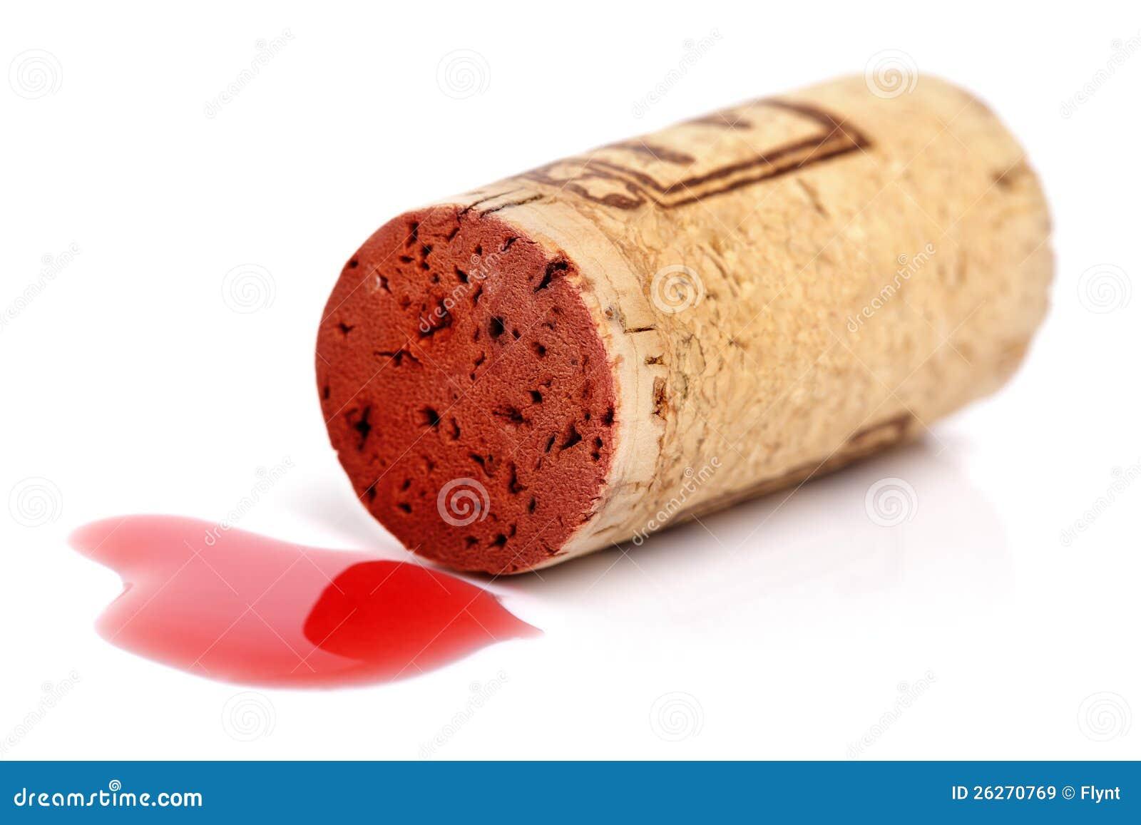 Corcho del vino rojo