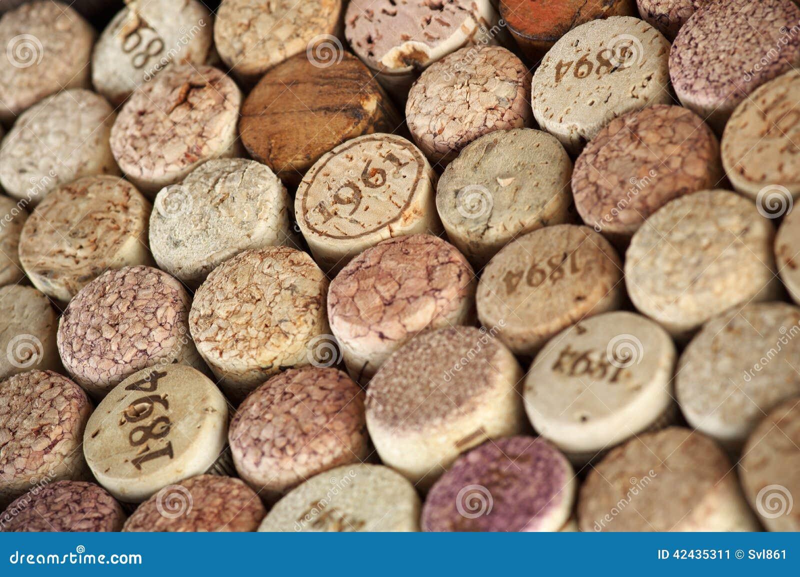 Corchos clasificados del vino