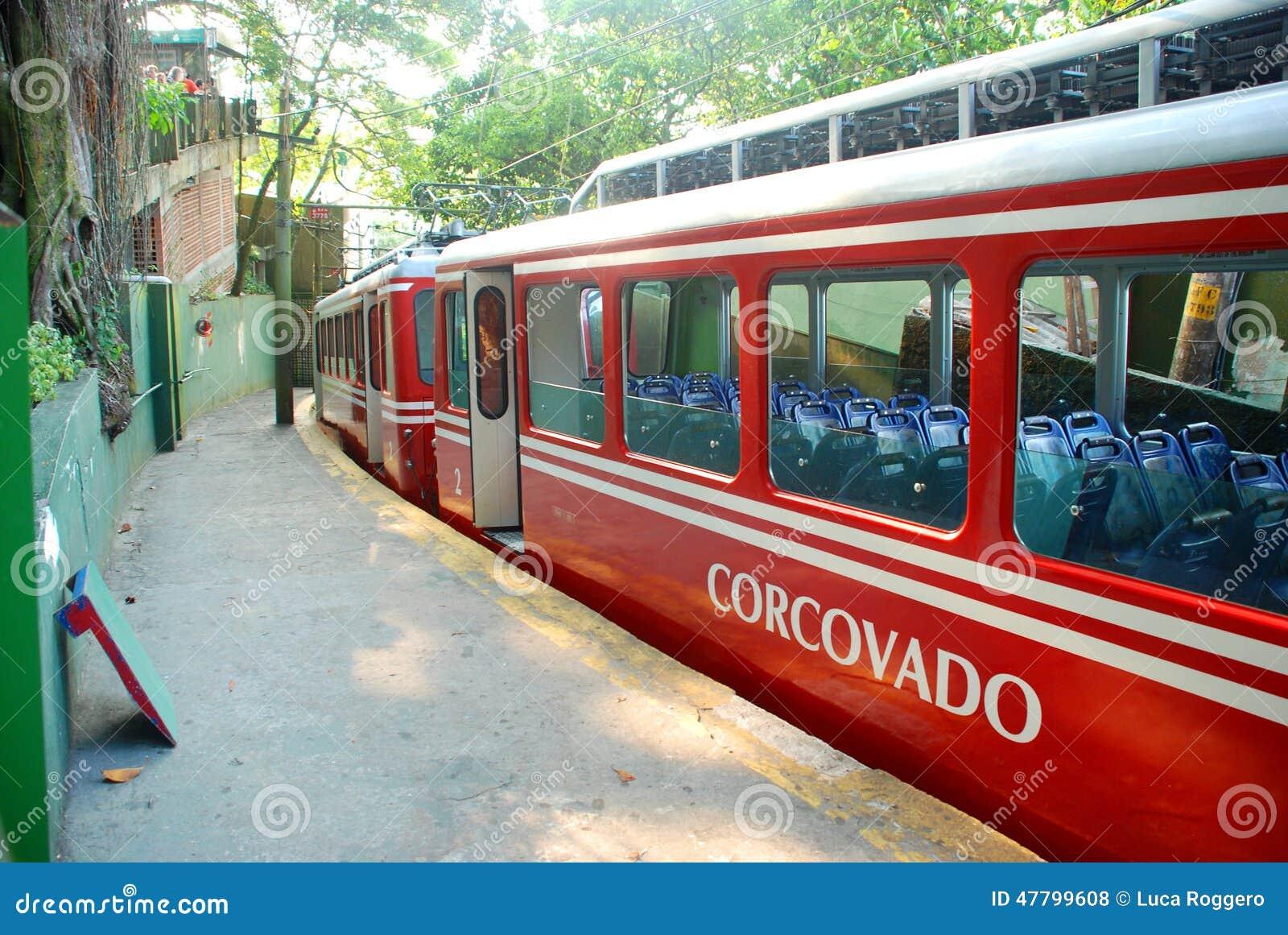 Corcovado pociąg Rio De Janeiro, Brazylia