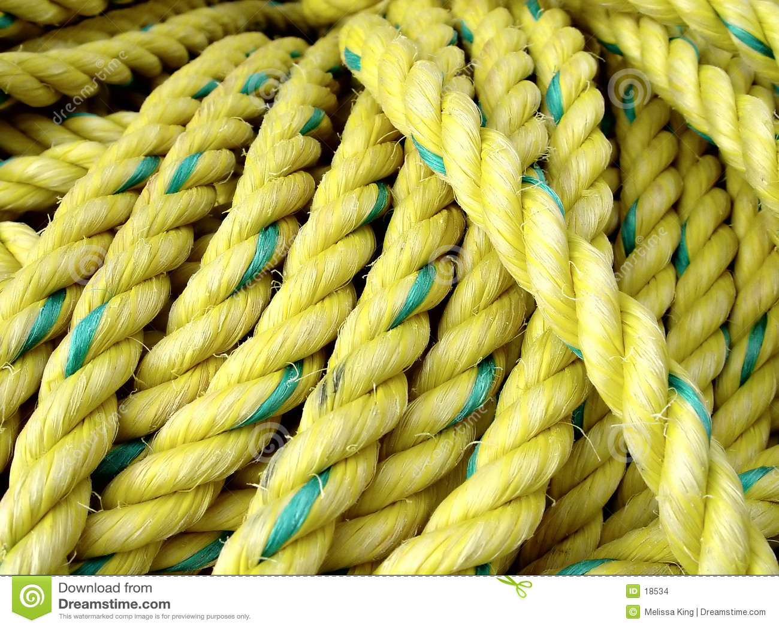 Corda amarela da pesca