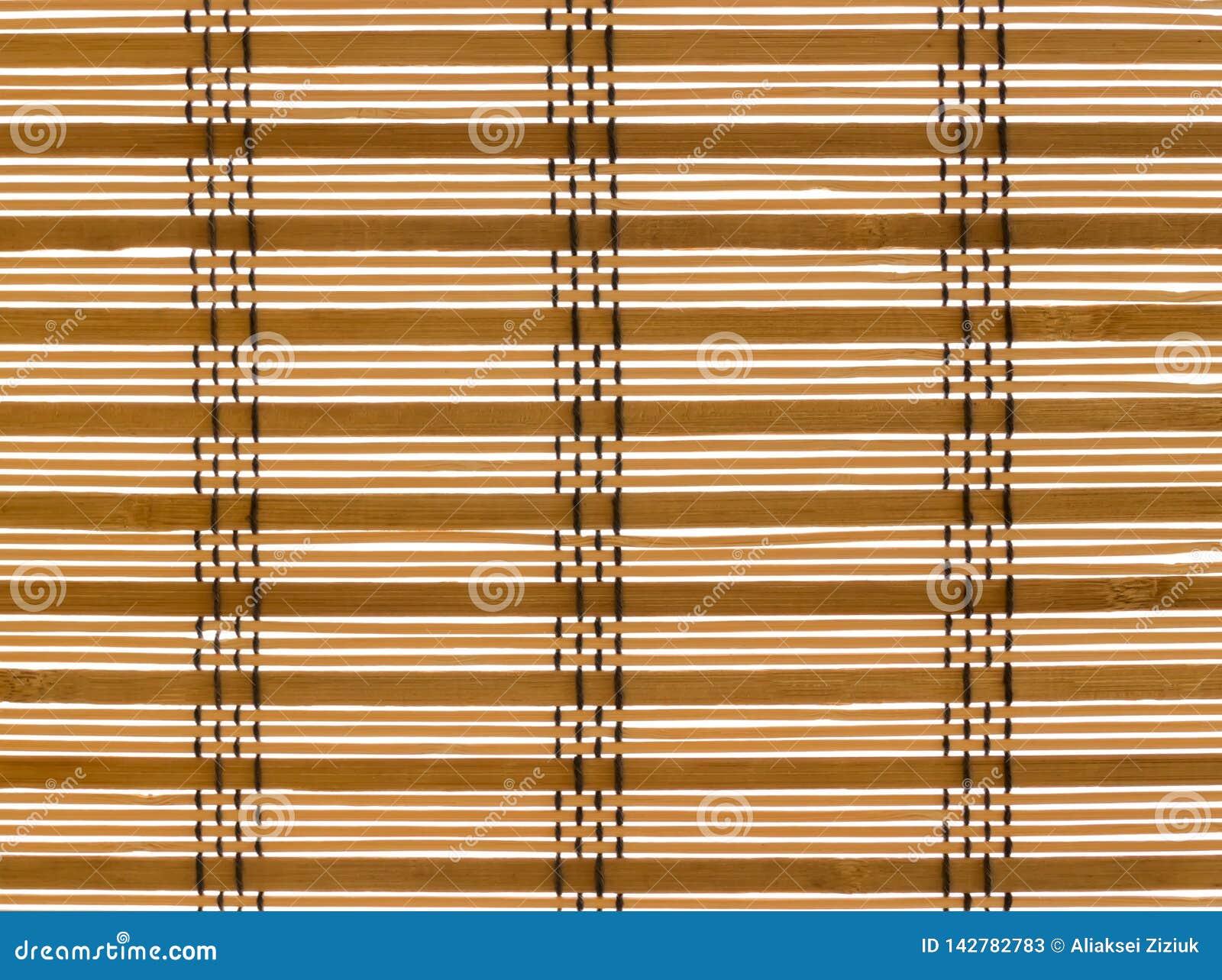 Corda costurada cortinas da madeira da textura