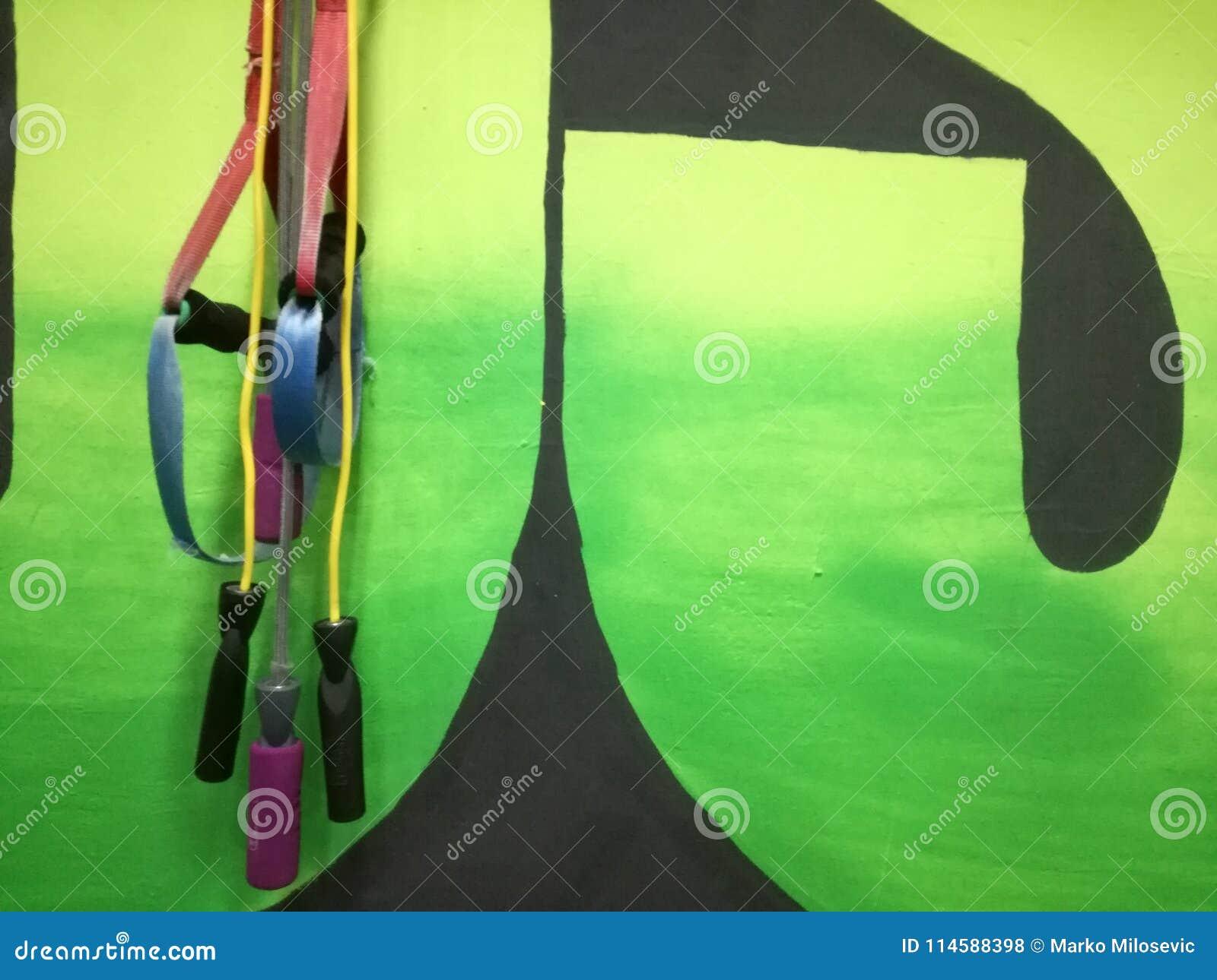 Cordas de salto no gym