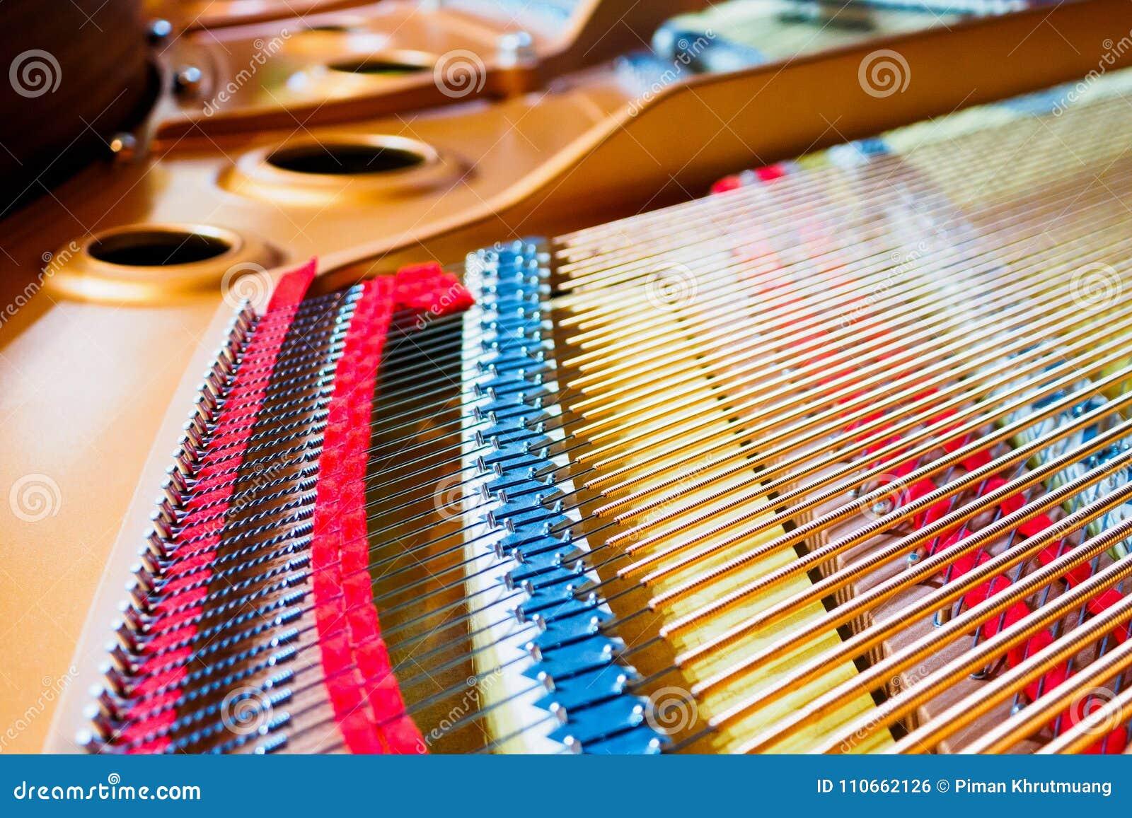 Cordas do piano de cauda