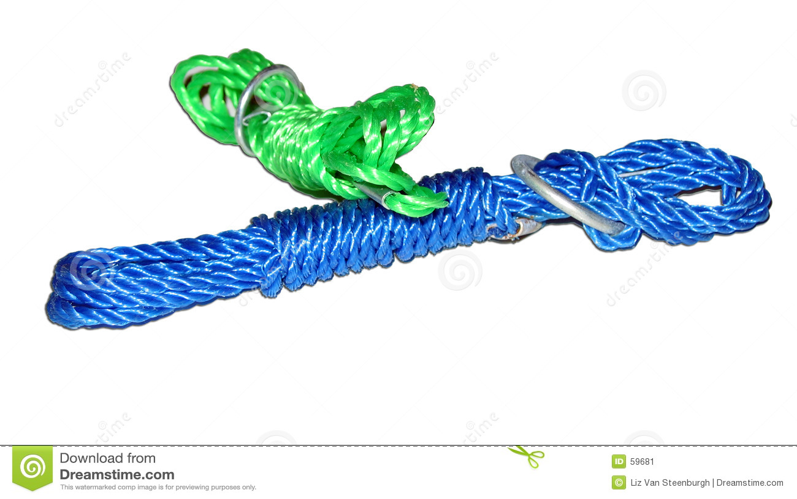 Download Corde en nylon image stock. Image du cordon, isolement, corde - 59681