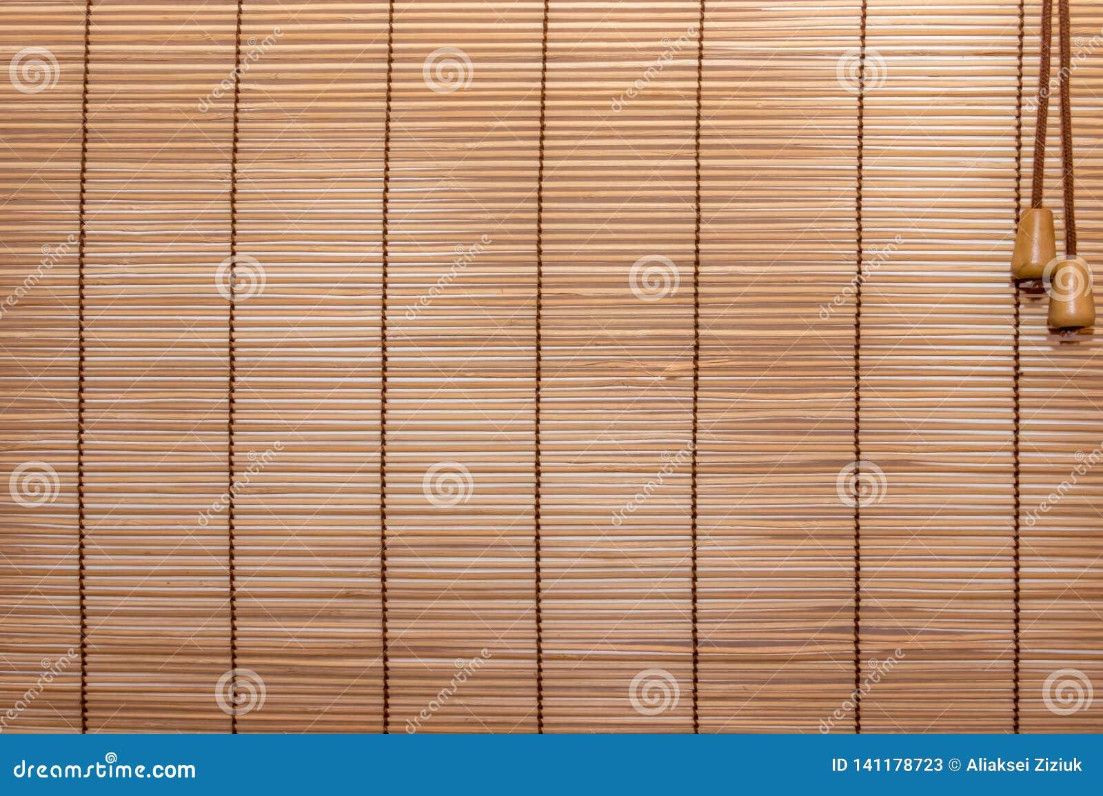 Corde piquée par abat-jour en bois de texture Bandes identiques de bois, légèrement