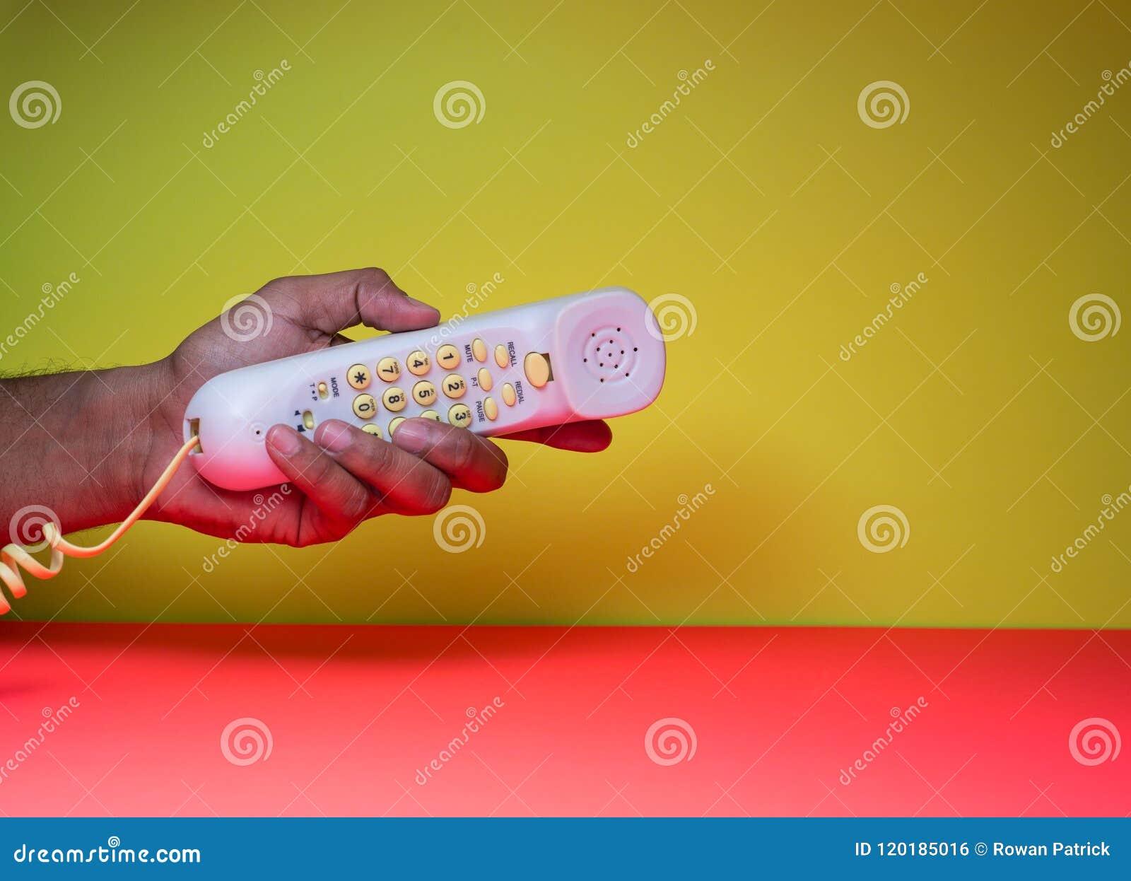 Corded handset w ręce