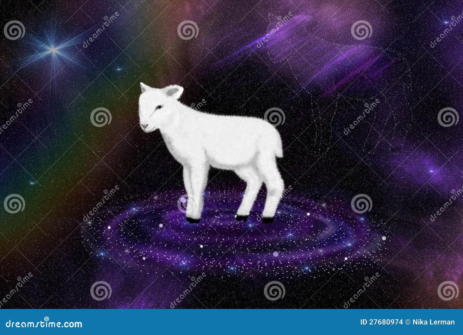 Ilustração Gratis Espaço Todos Os Universo Cosmos: Cordeiro Do Deus No Universo Ilustração Stock