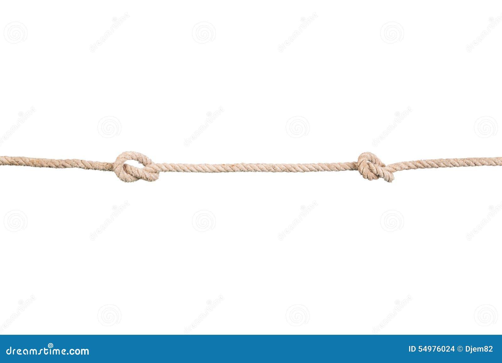 Cordes de bateau avec des knotes