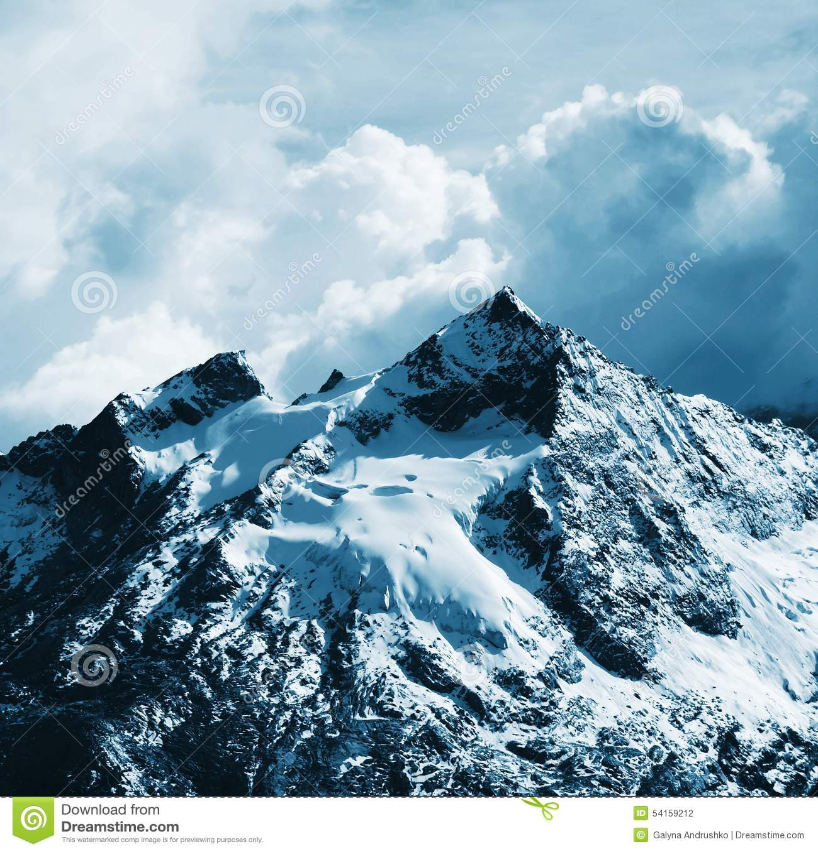 Cordilheira bonitas da montanha