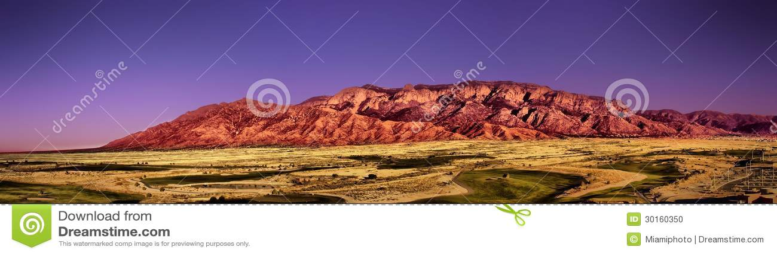 Montanhas de Sandia em Albuquerque nanômetro