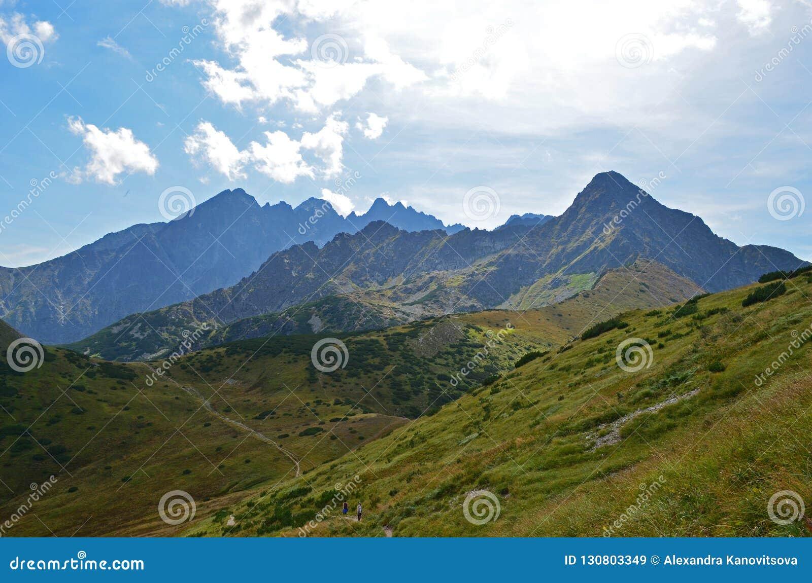 Cordilheira no verão Tatras alto, Eslováquia