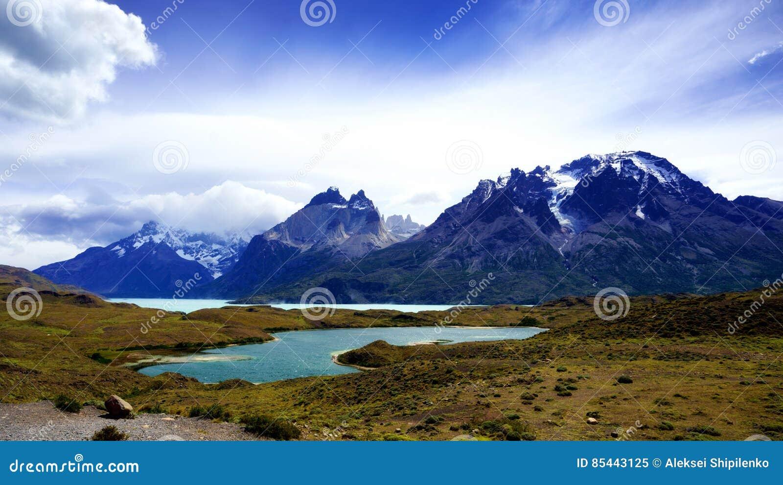 Cordillère Paine en parc national de ` de Torres del Paine de `, Patagonia