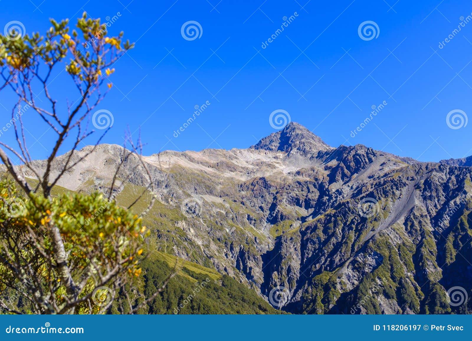 Cordillera alrededor del paso de Arthurs