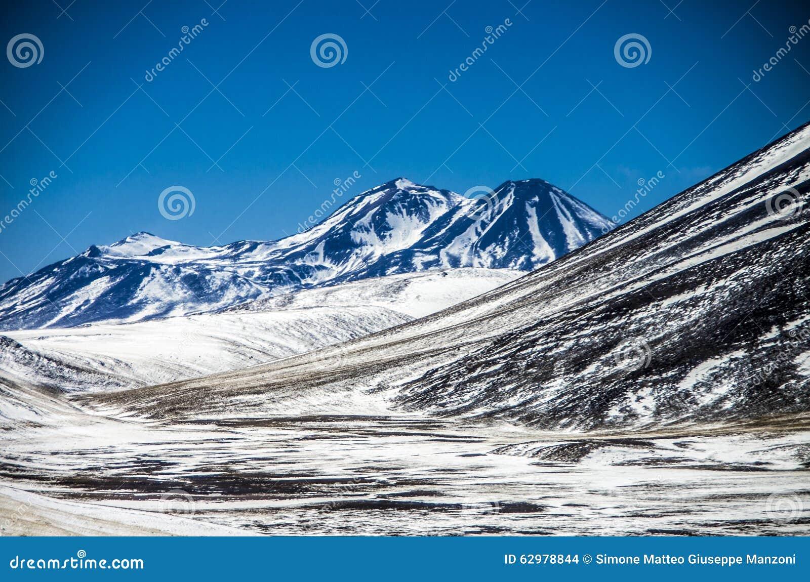 Cordillera cerca del desierto de Atacama, Chile