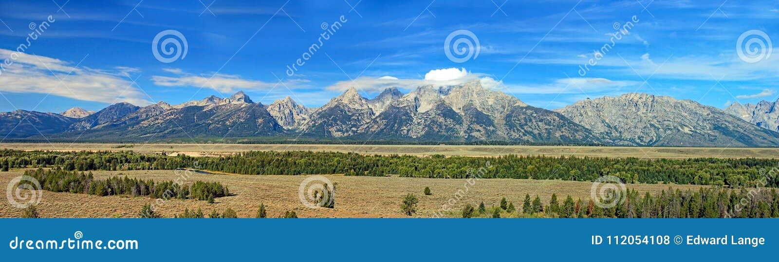 Cordillera magnífica de Teton en Wyoming