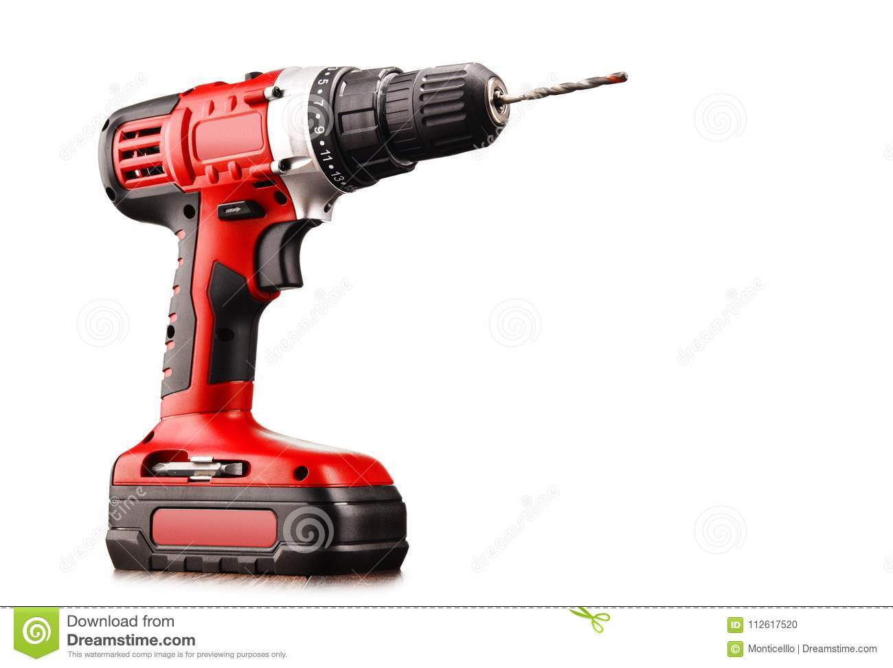 Cordless Drill With Drill Bit Working Also As Gun Stock ...