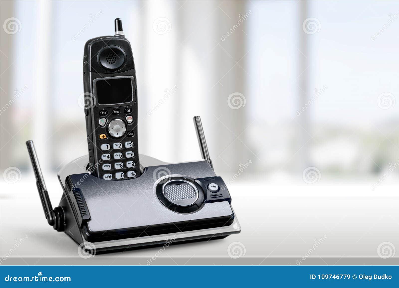 Cordless modern Phone, close-up view