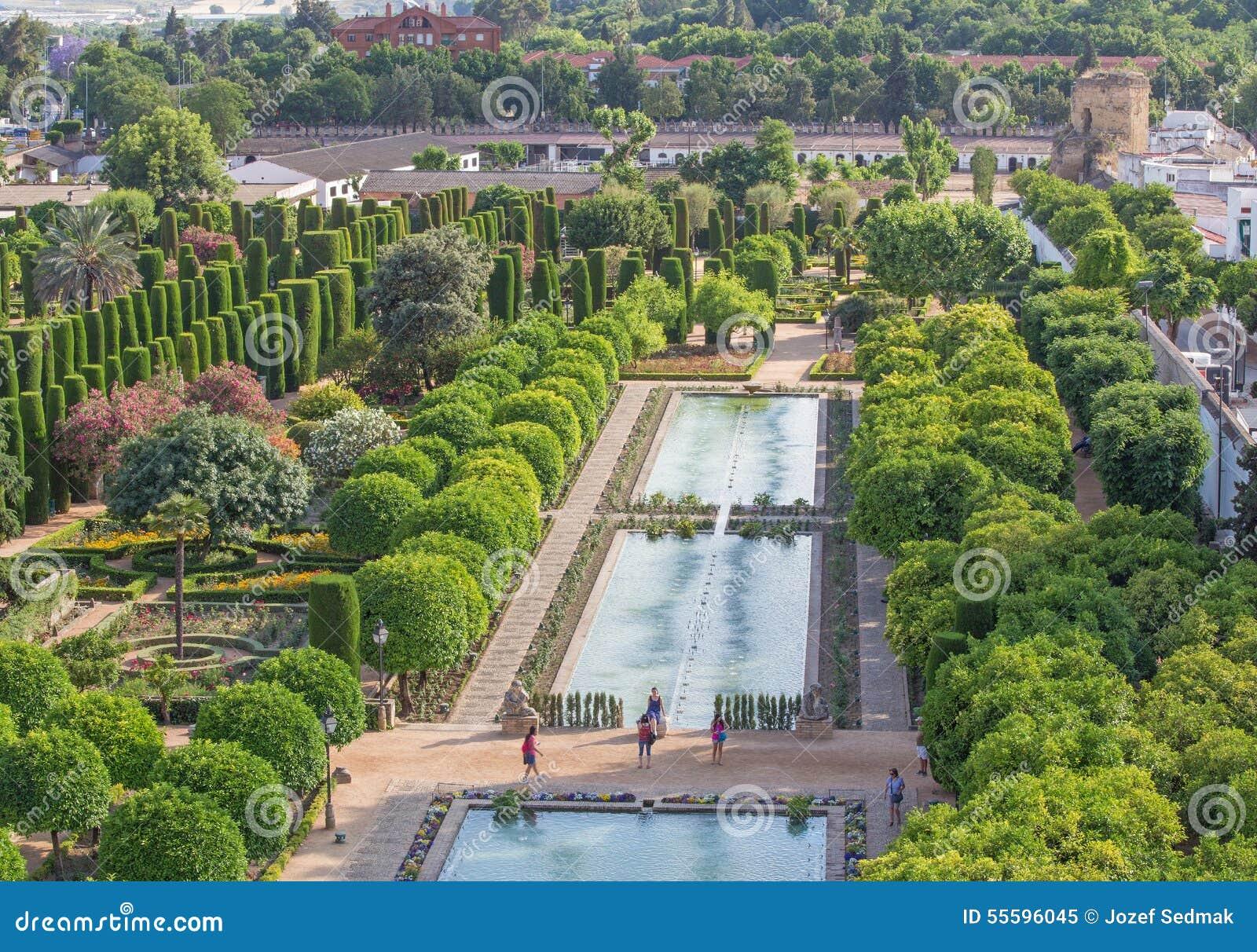 Cordoba - The Gardens Of Palace Alcazar De Los Reyes Cristianos. Editorial Image - Image: 55596045