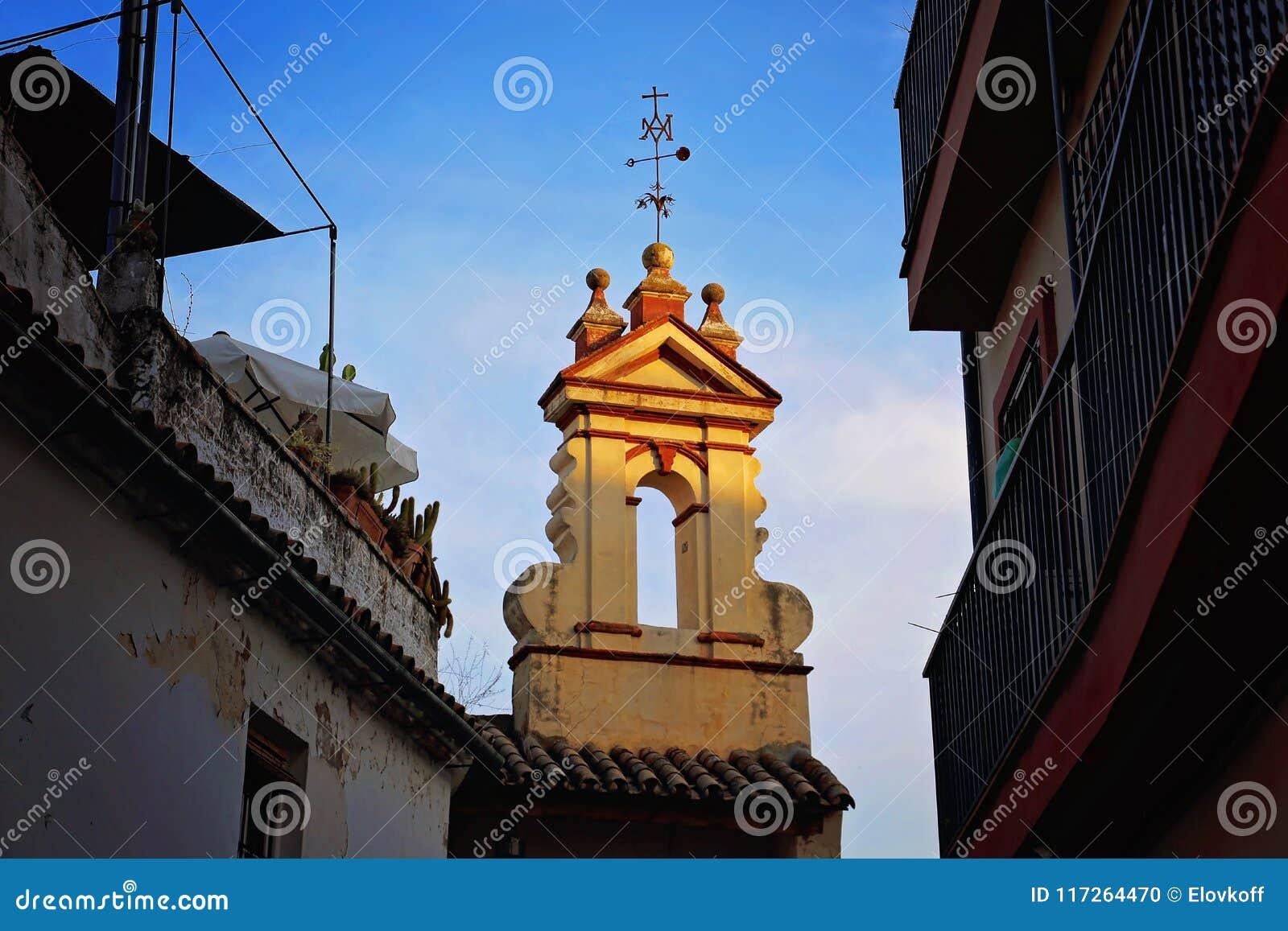 Cordoba gator på det historiska området