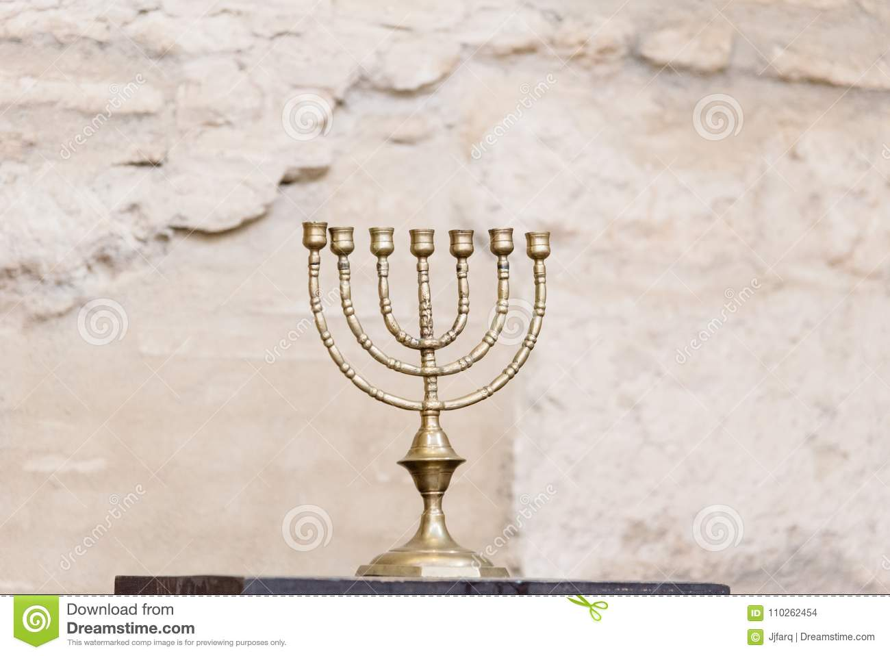 The Menorah In The Synagogue Of Cordoba. Editorial Stock Image ... for Ancient Lampstand  54lyp