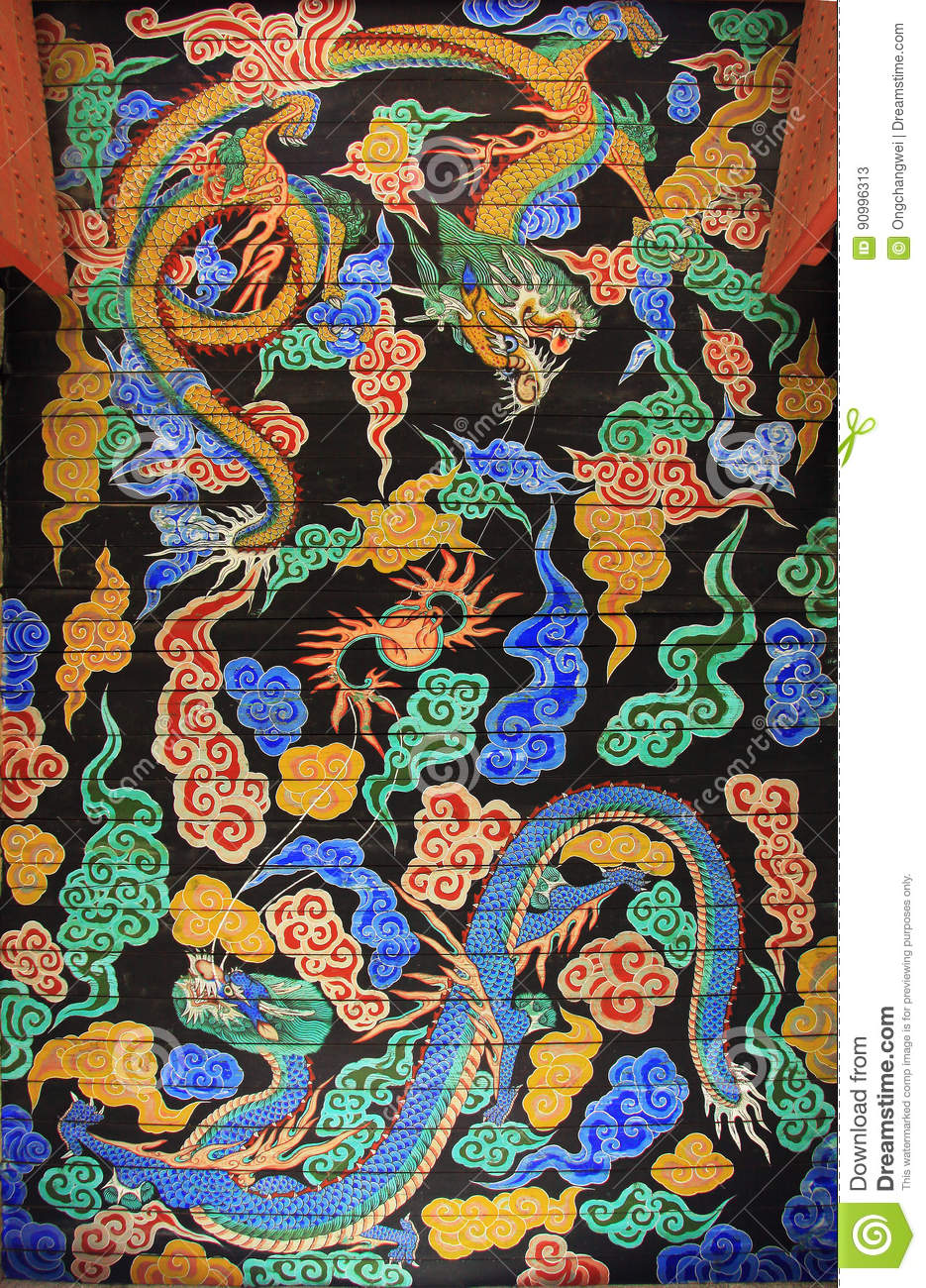 Coreia Dragon Painting
