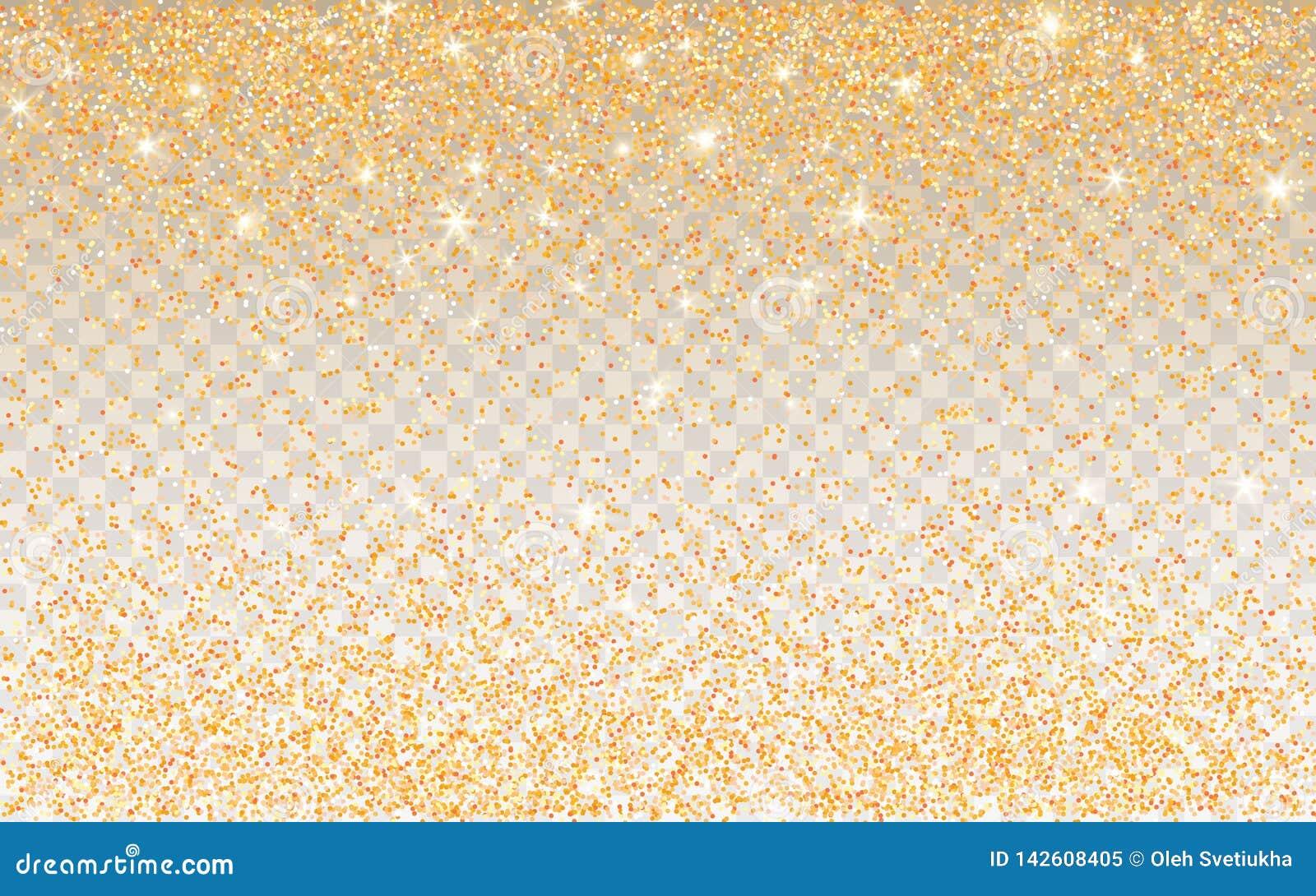 在透明背景的金黄闪烁闪闪发光 与闪光光的金充满活力的背景 r