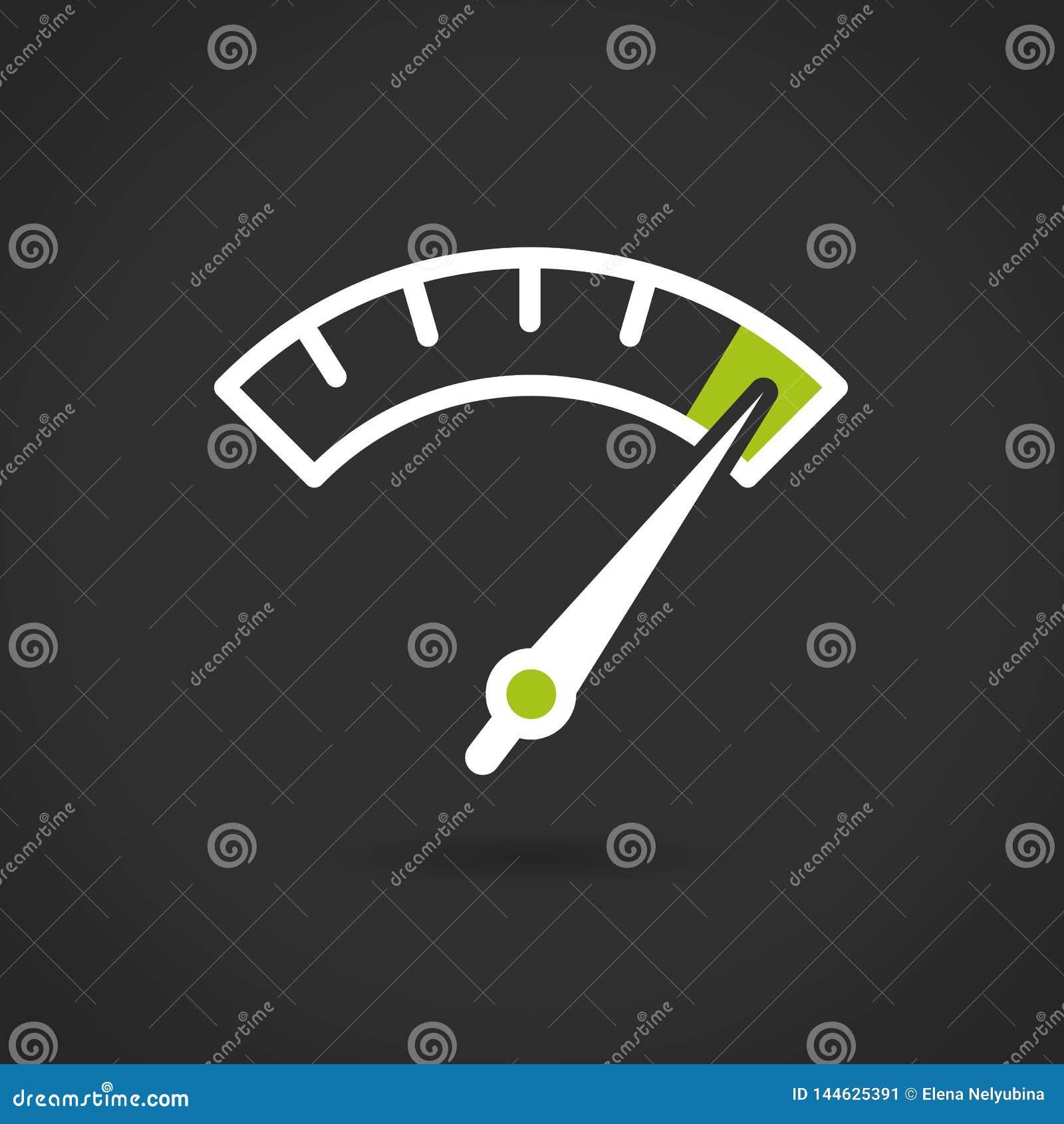 Красочный элемент датчика Информаци-графика Вектор, плоская иллюстрация
