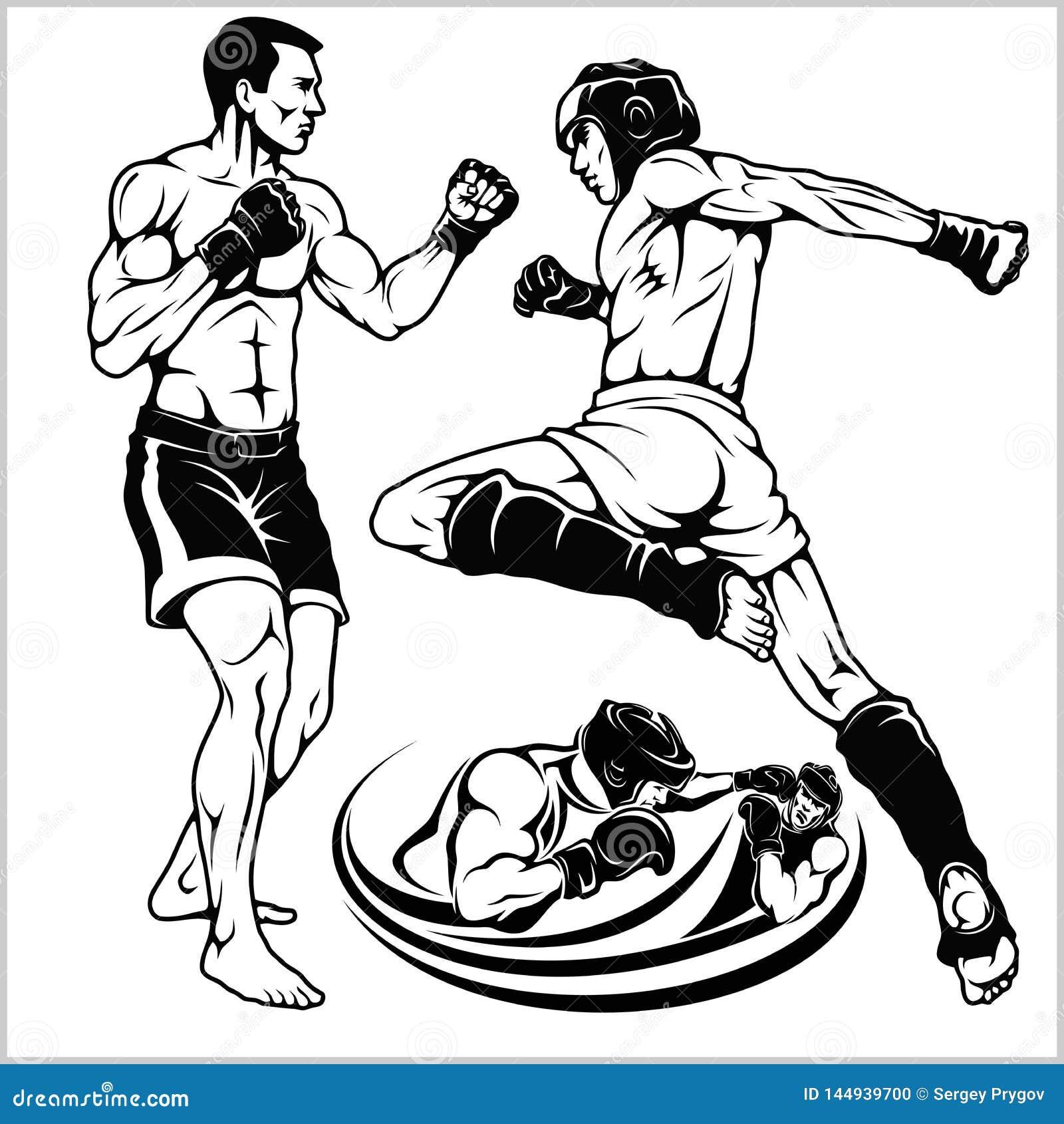Μαχητές των αρειανών μικτών τεχνών Έμβλημα αθλητικών λεσχών r