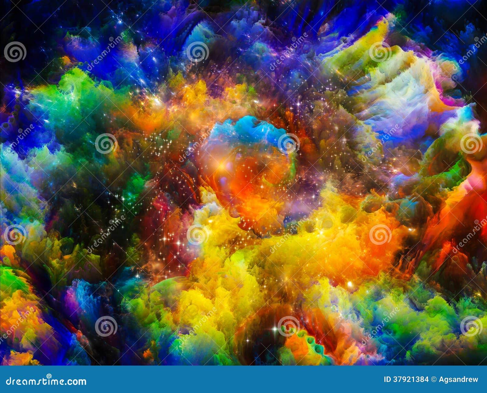 Ilustração Gratis Espaço Todos Os Universo Cosmos: Cores Da Nebulosa Ilustração Stock. Ilustração De Cosmos