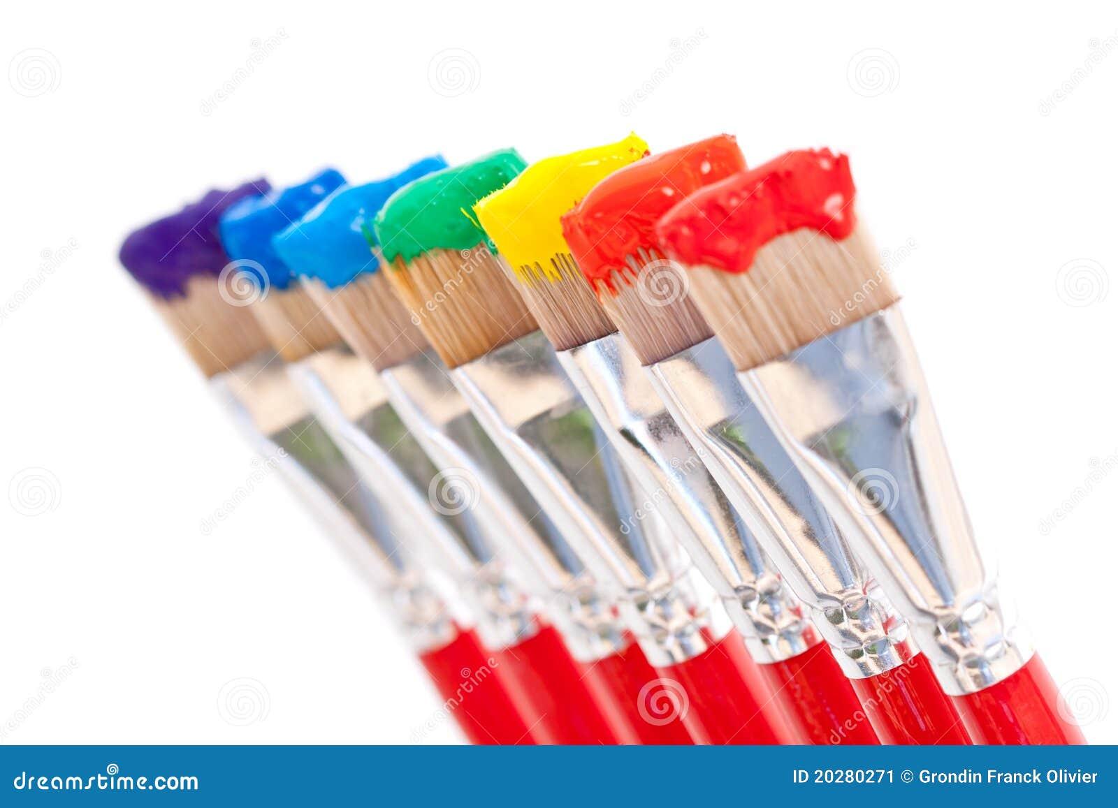 Cores da pintura do arco-íris