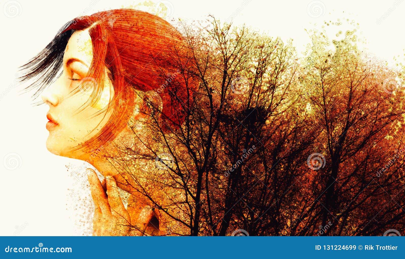 Cores do outono da mãe Natureza