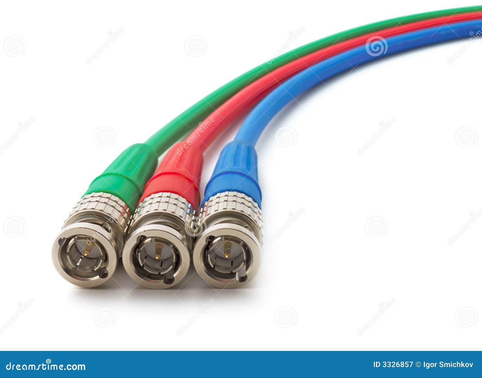 Cores do RGB, conectores de BNC