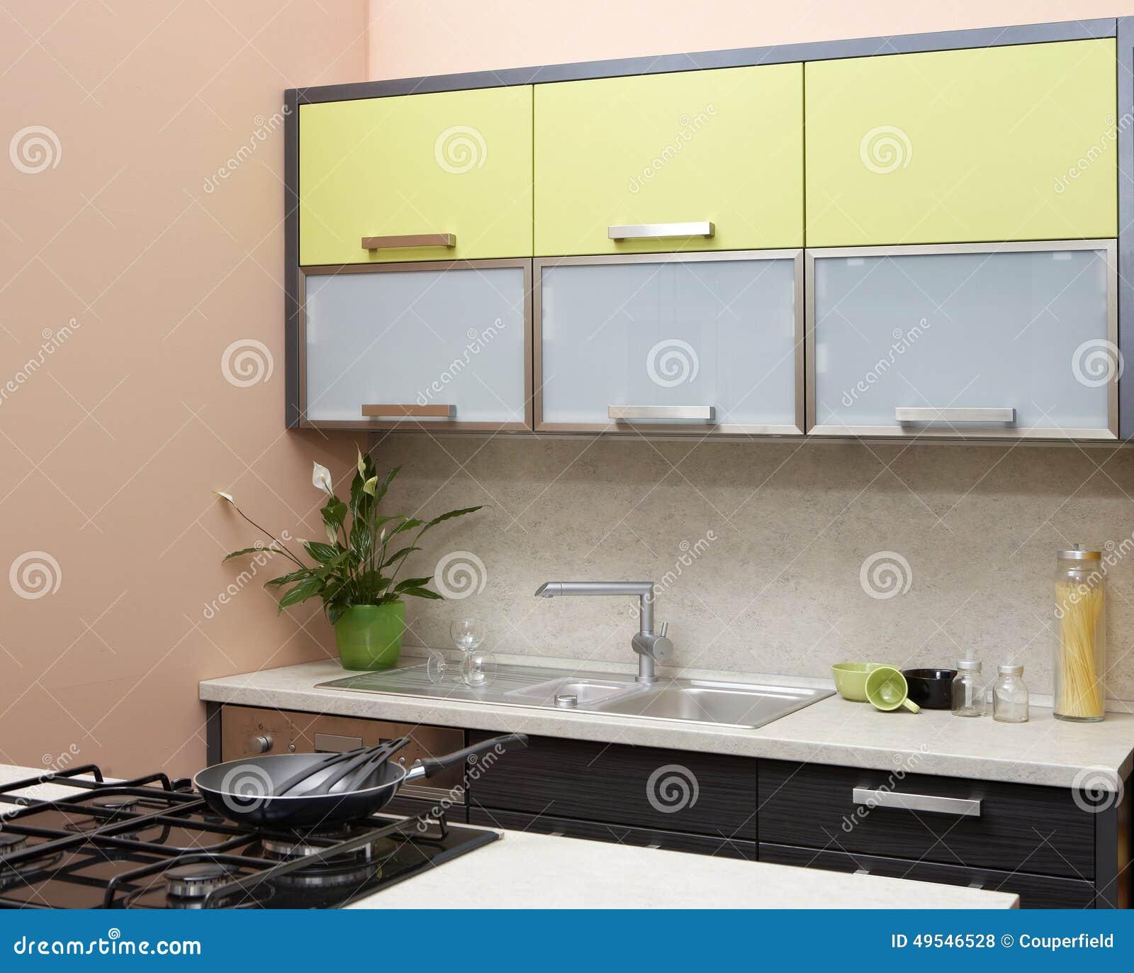 Cores Na Cozinha Moderna Foto De Stock Imagem De Constru O 49546528
