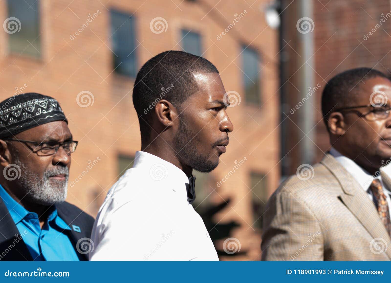 Corey Long Arrest al tribunale di prima istanza di Charlottesville