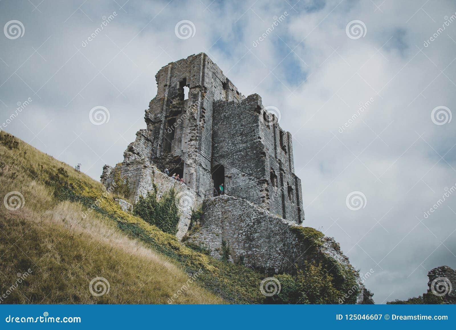 Corfe slott, Dorset, England