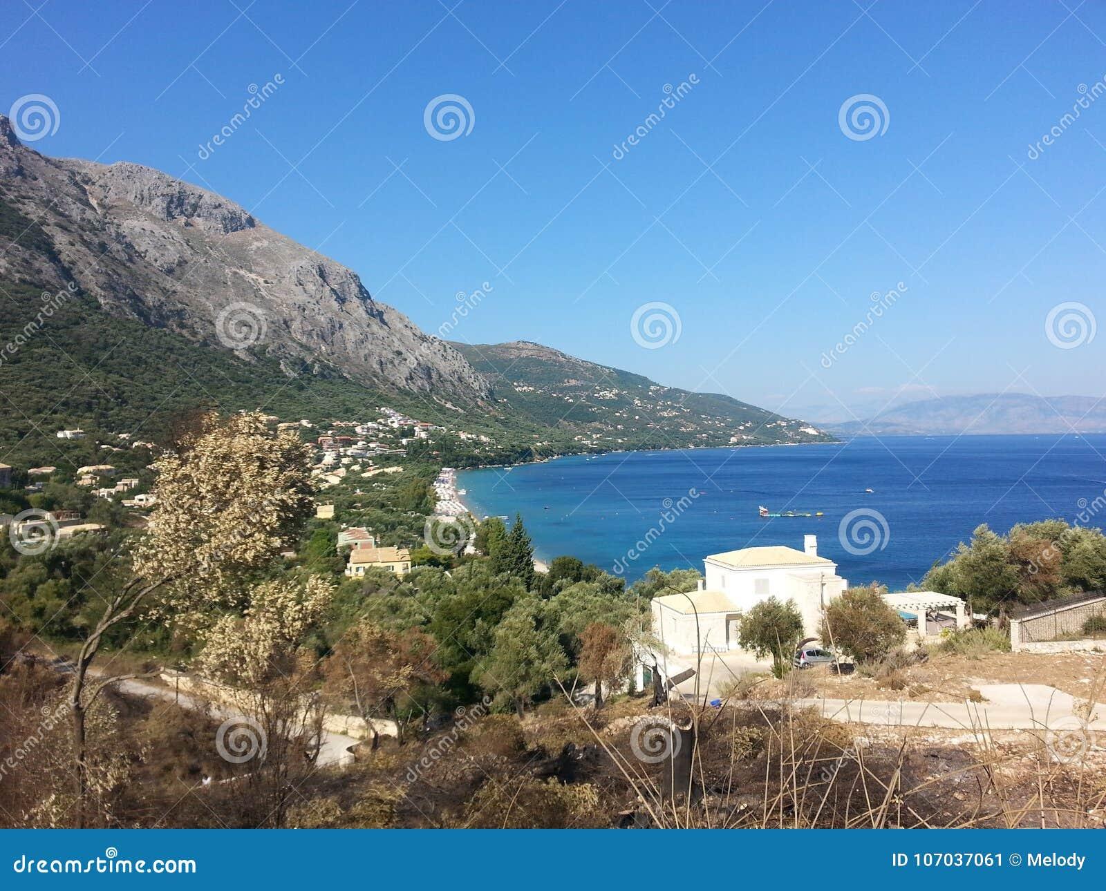 Corfu & x28; greece& x29; wyspa widok
