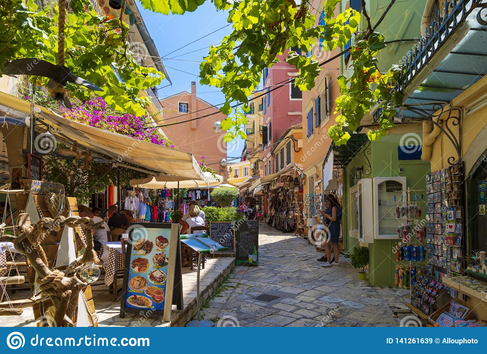 Corfu Town Centre Esplanades And Market Editorial Stock Image ...