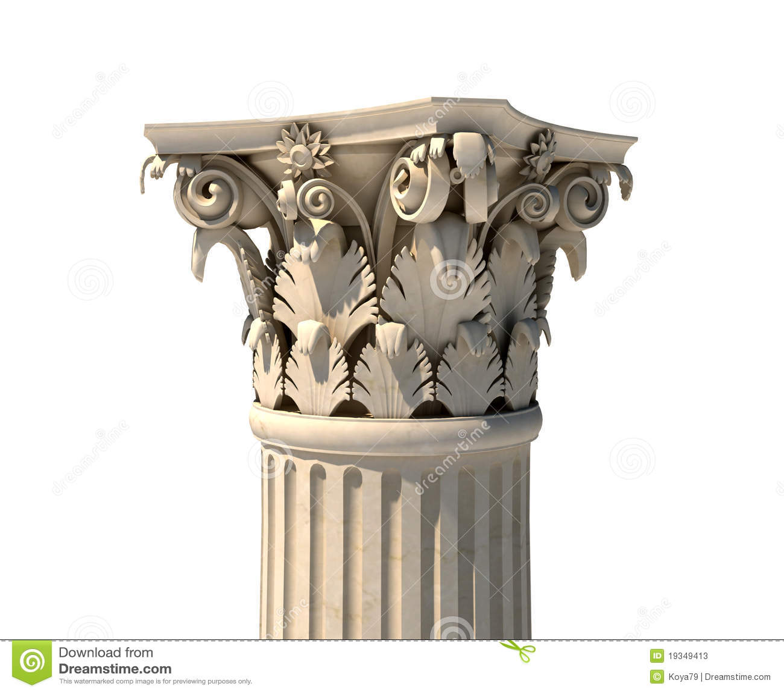 Corinthian Column Capital Stock Photos Image 19349413