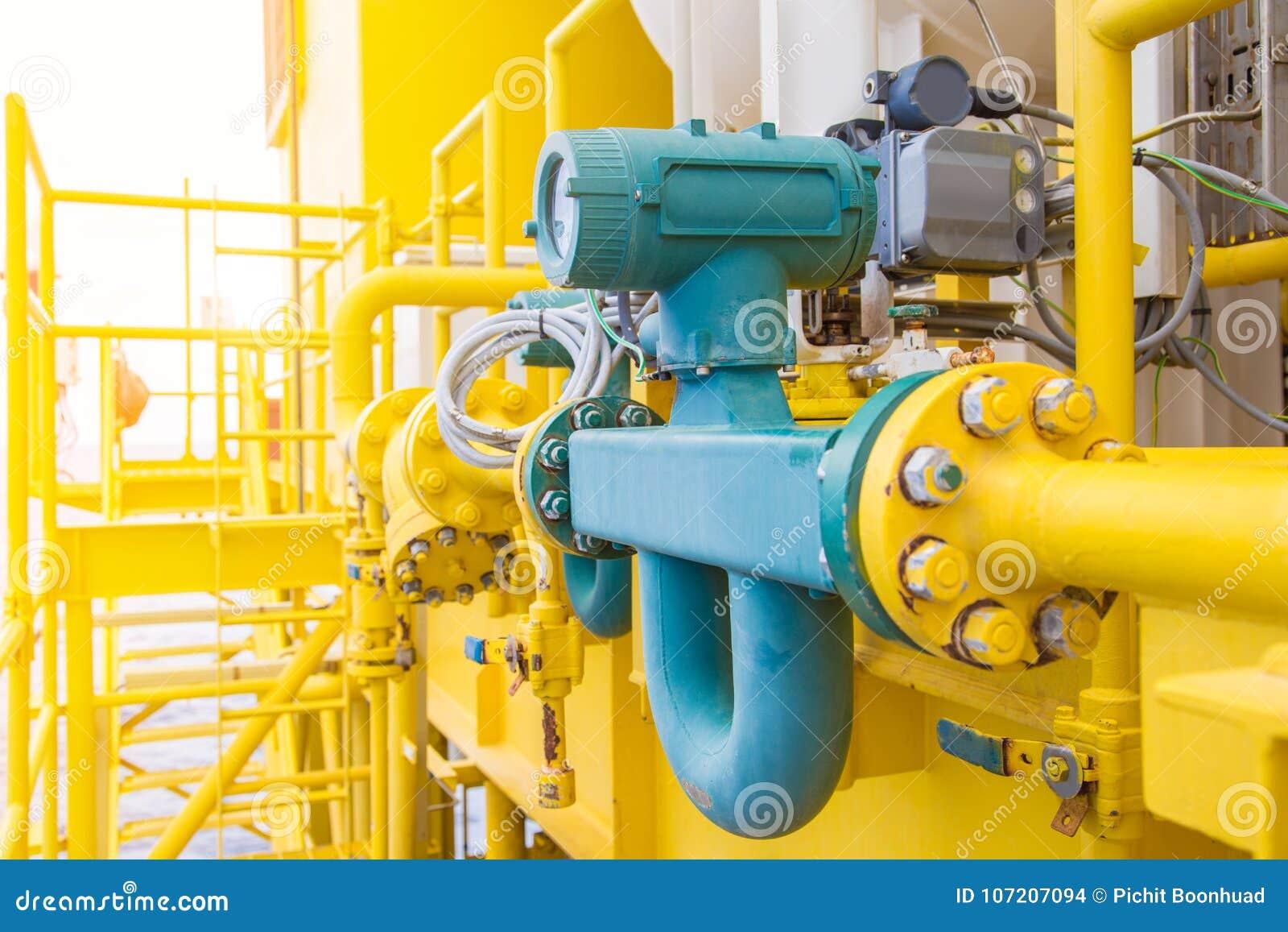Coriolis spływowy metr lub masowy spływowy metr dla pomiaru ropa i gaz fluidy w drymby linii