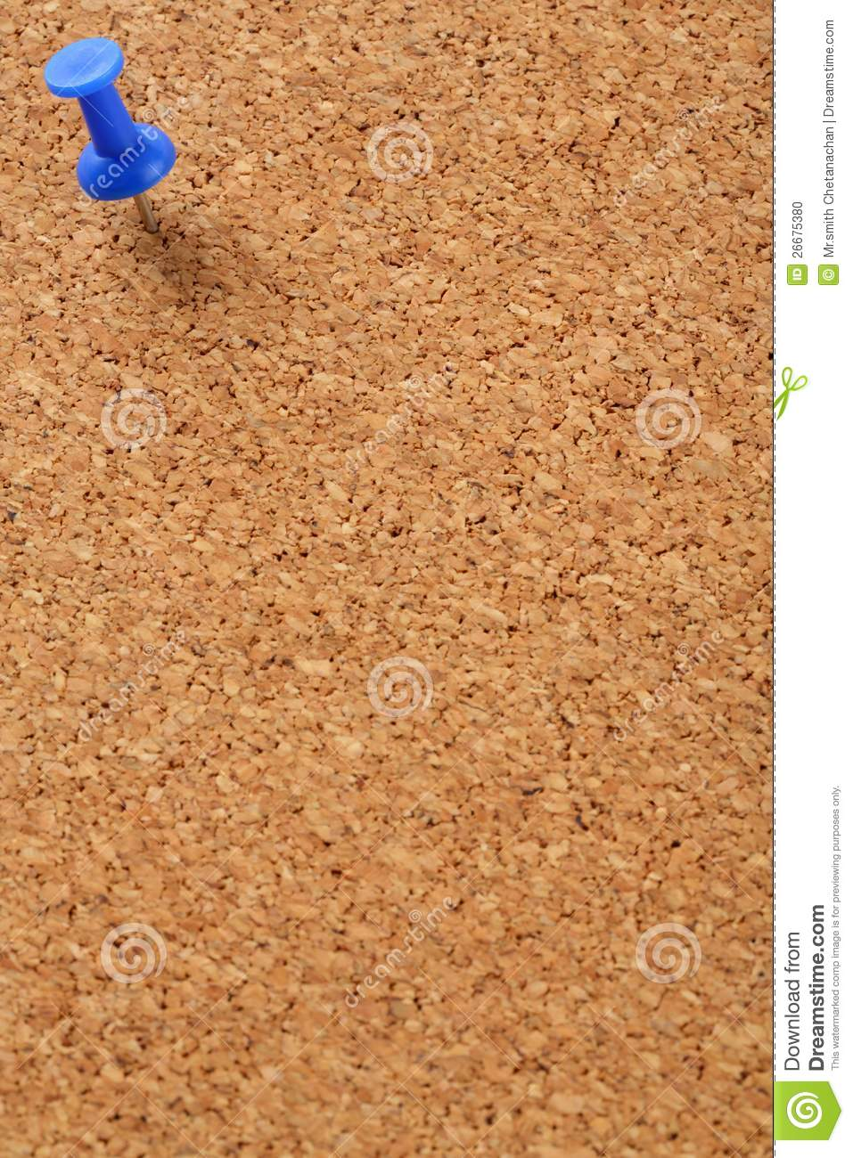 Cork board with blue pin stock photo image 26675380 for Cork board pin display