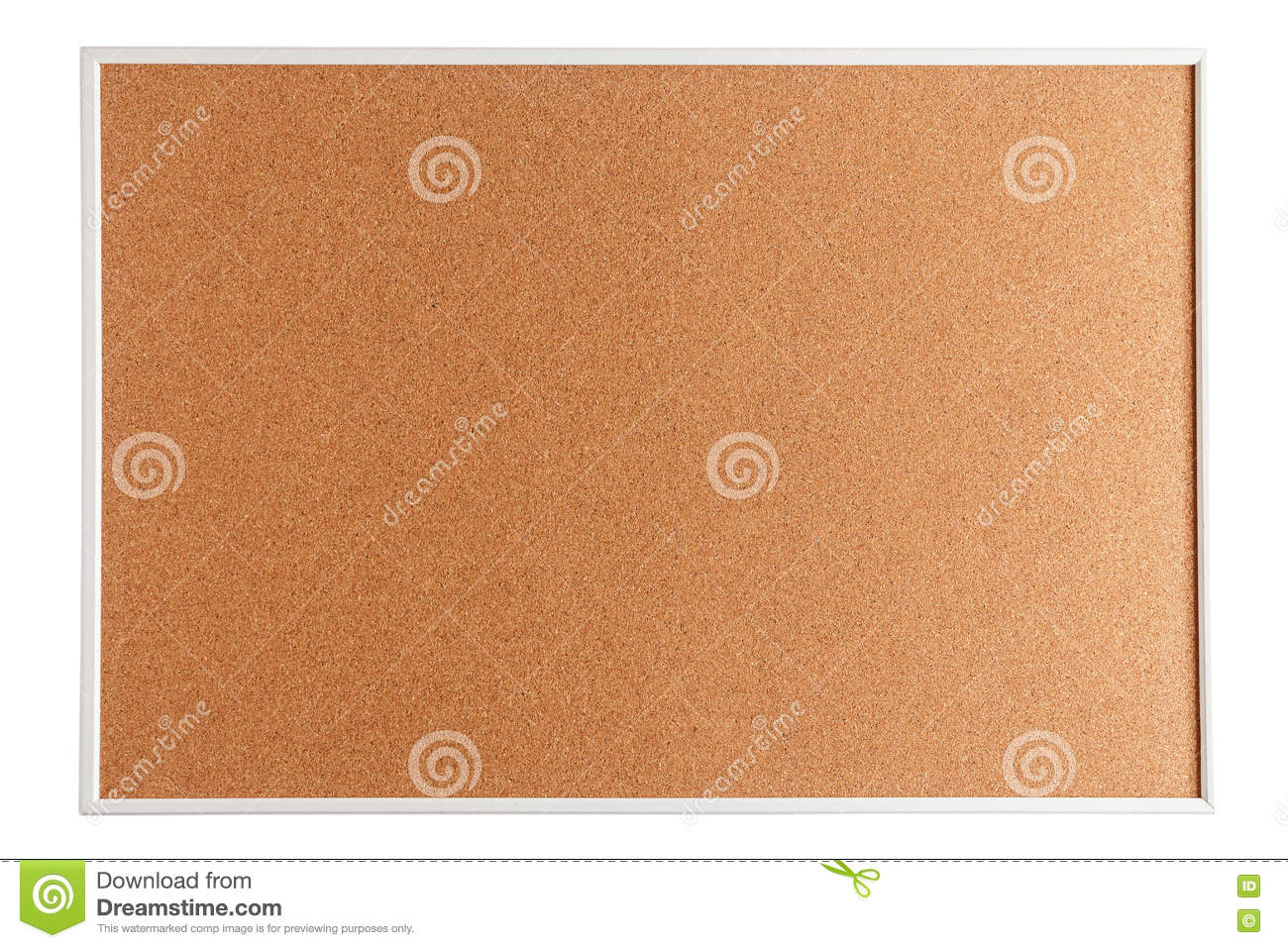 Cork board isolated on white