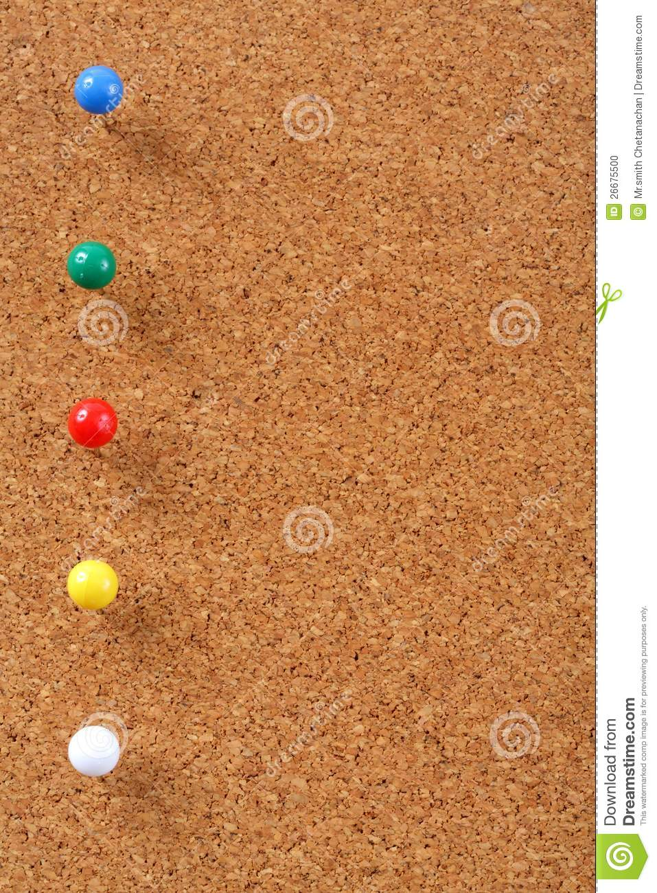 Cork board with pins stock photo image 26675500 for Cork board pin display