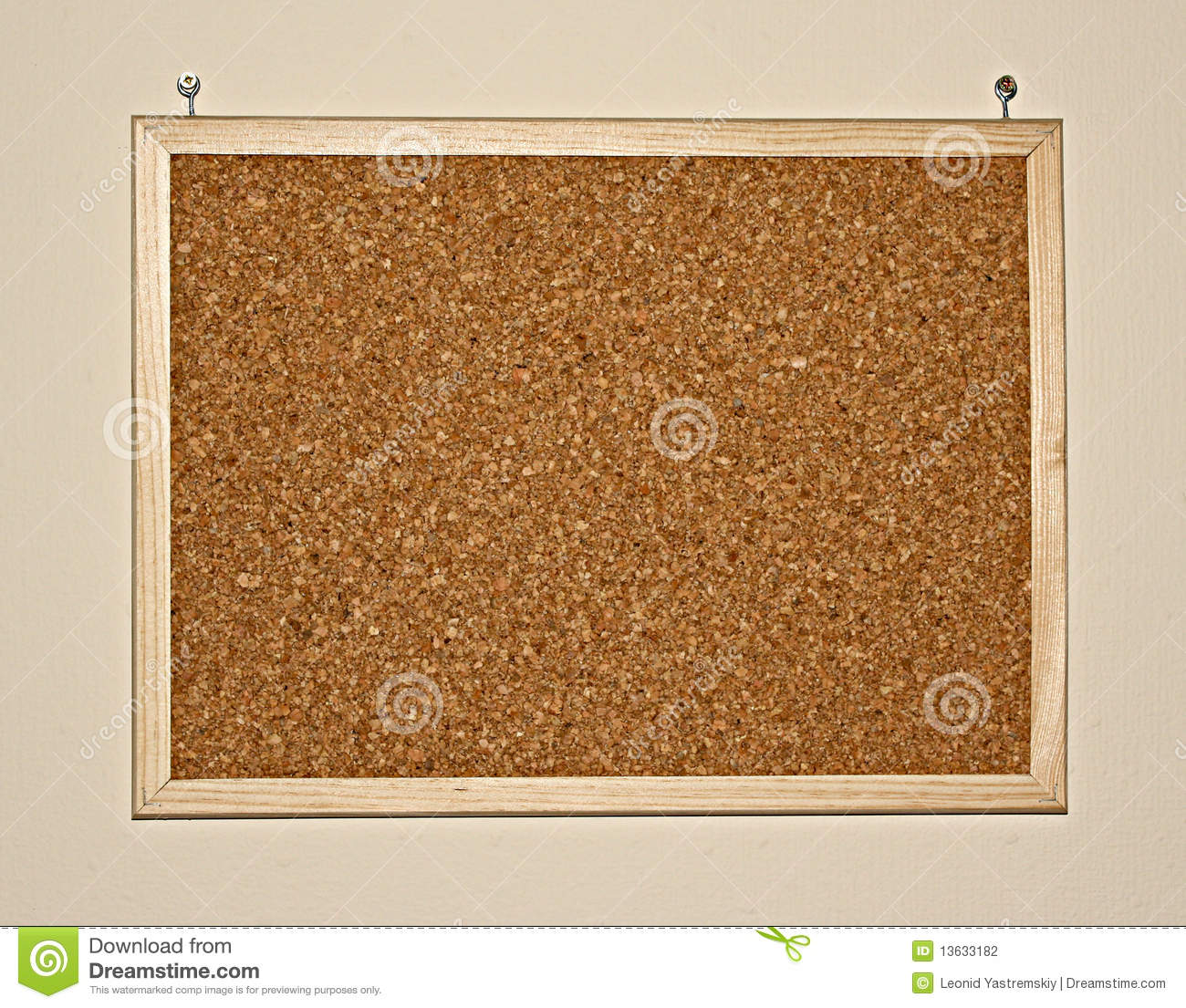 cork board on wall stock photography image 13633182