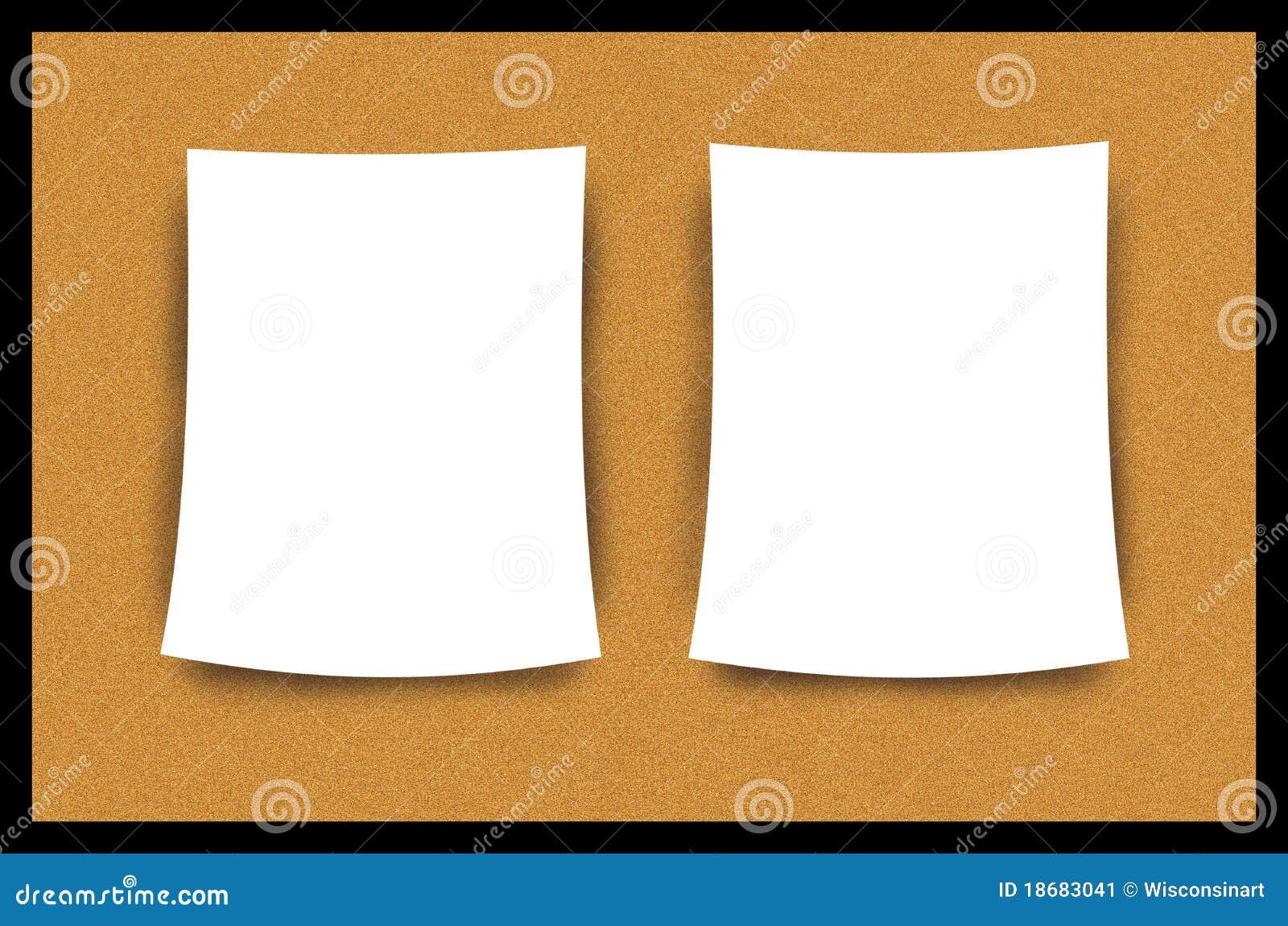 Cork Bulletin Board Blank Paper Sheet Illustration Stock Image Image 18683041