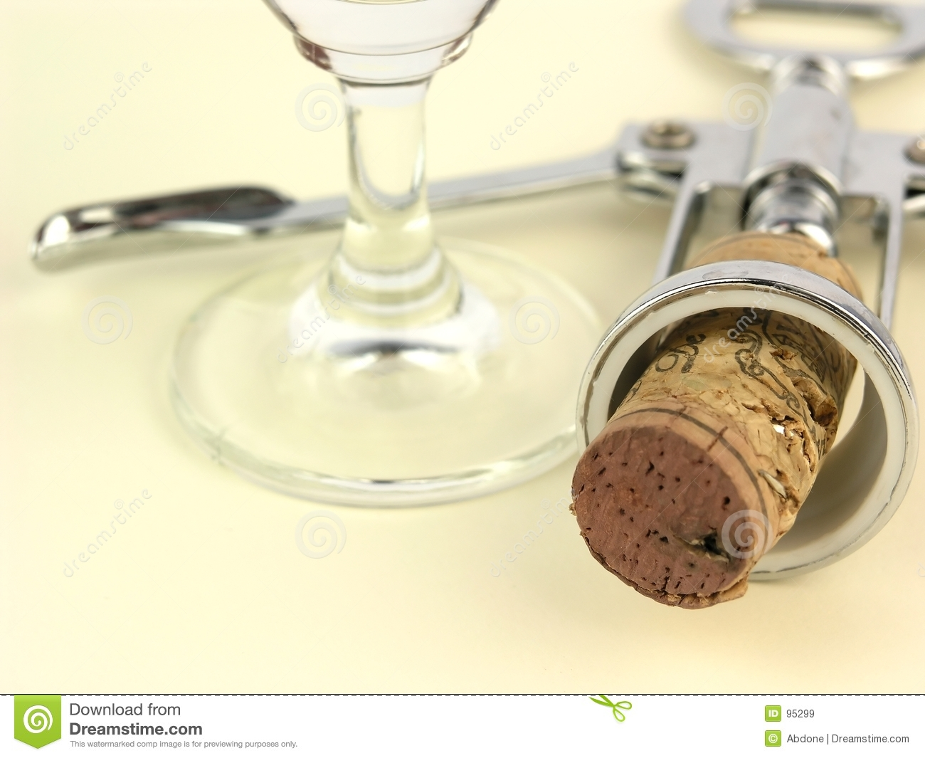 Cork and empty glass