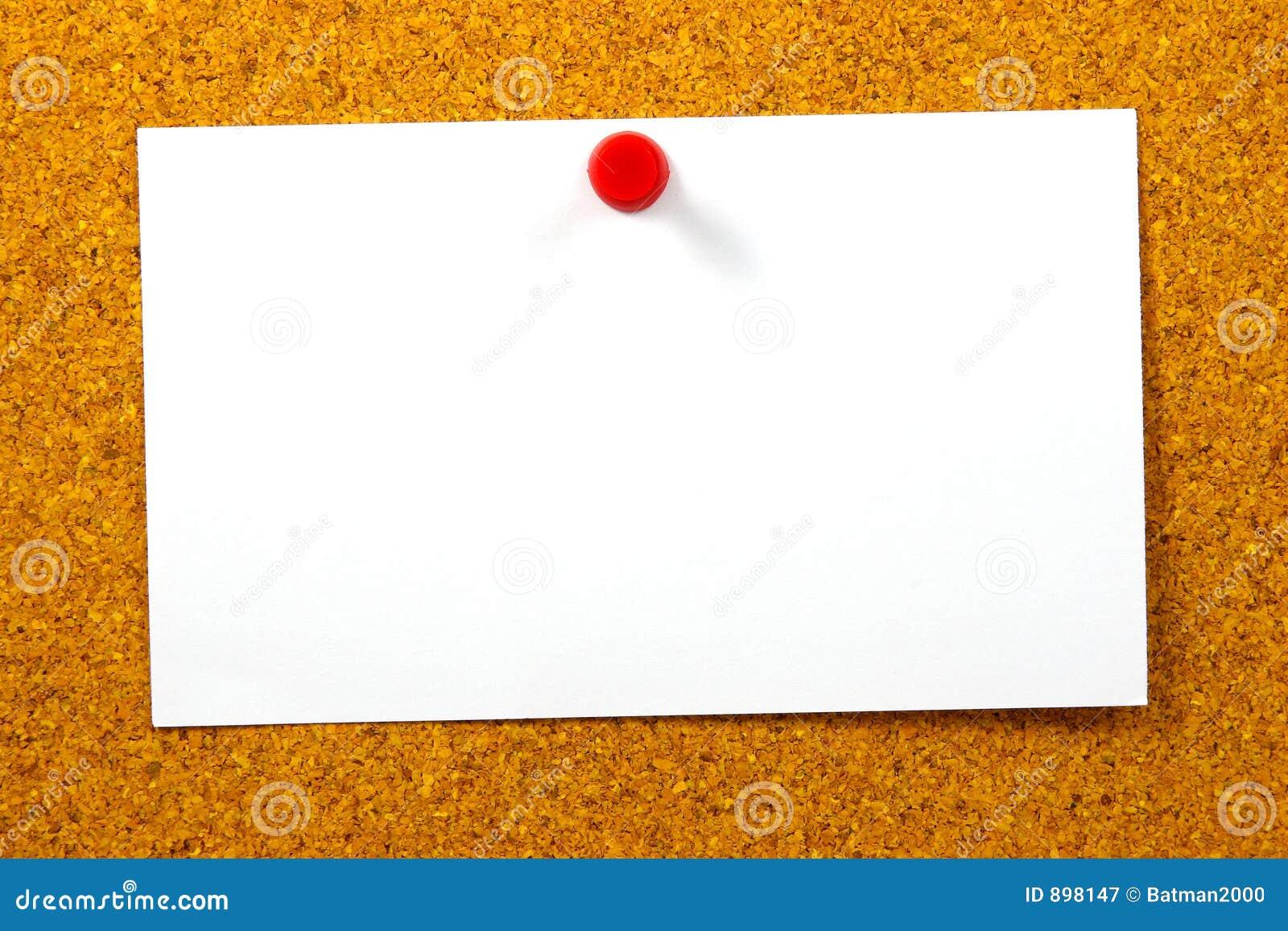 Cork karty pusty, żółty