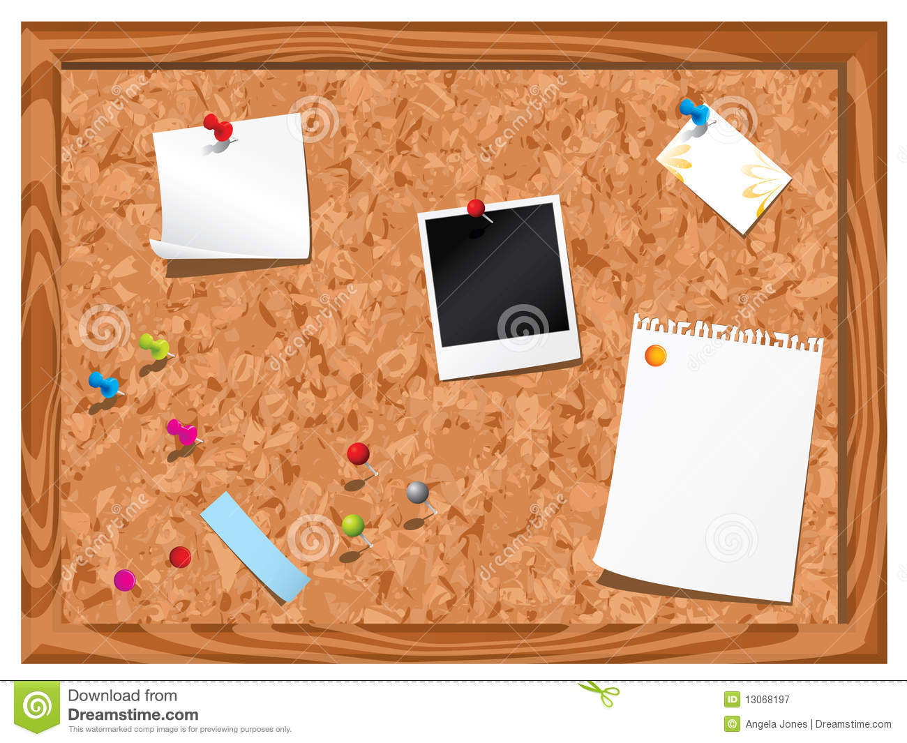 Cork Notice Board Royalty Free Stock Photography Image