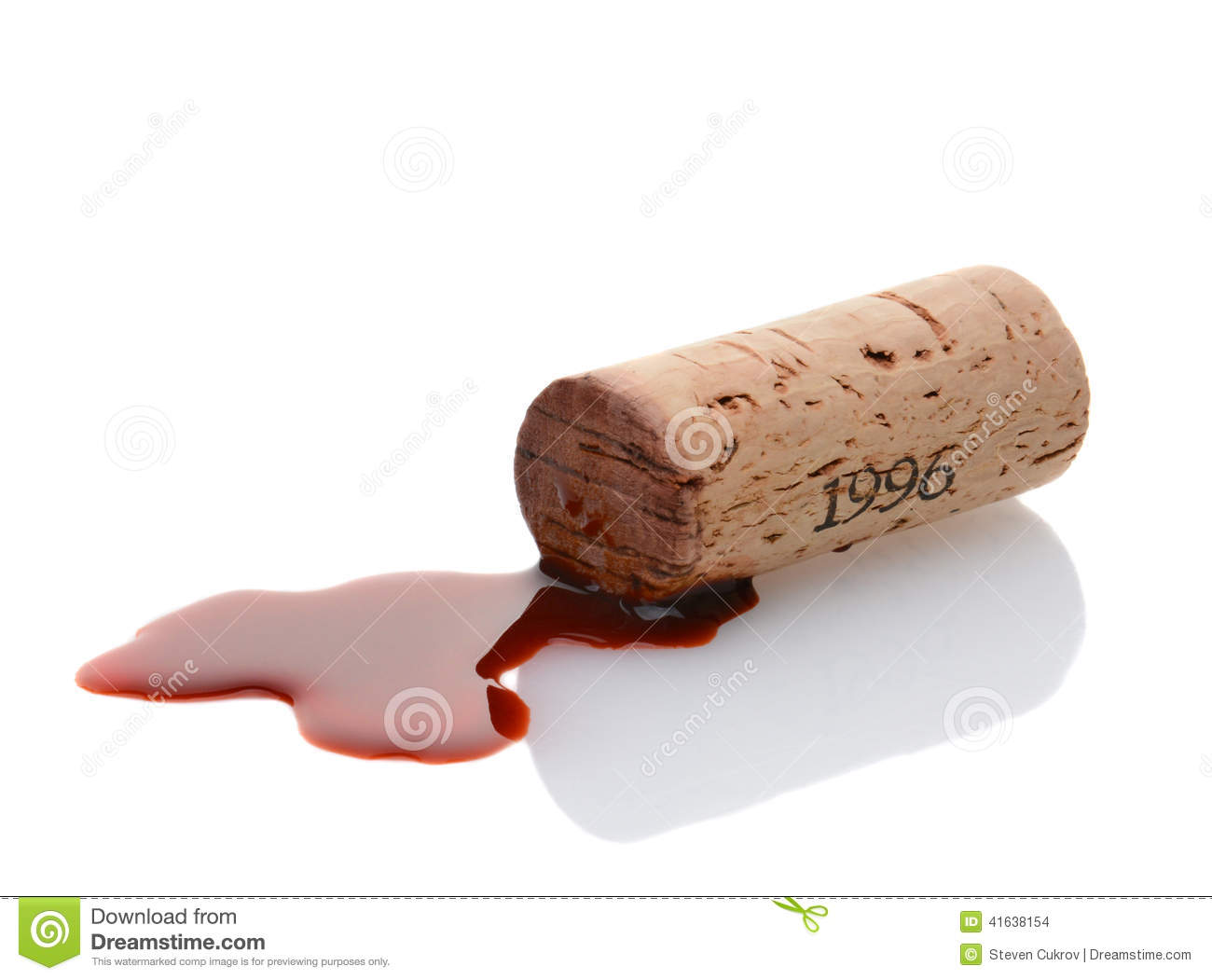 Cork and Red Wine Spill